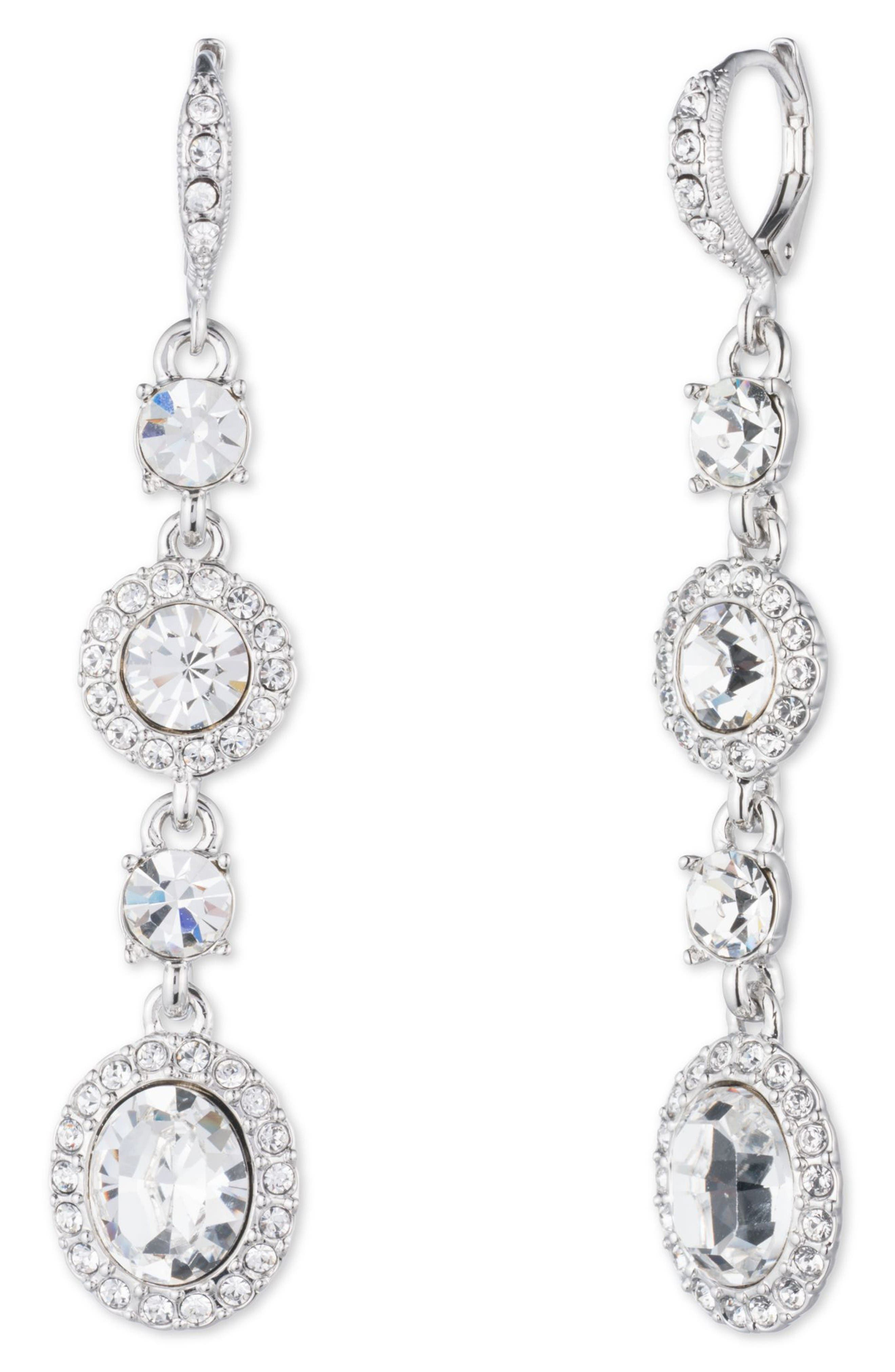 Main Image - Givenchy Crystal Linear Drop Earrings