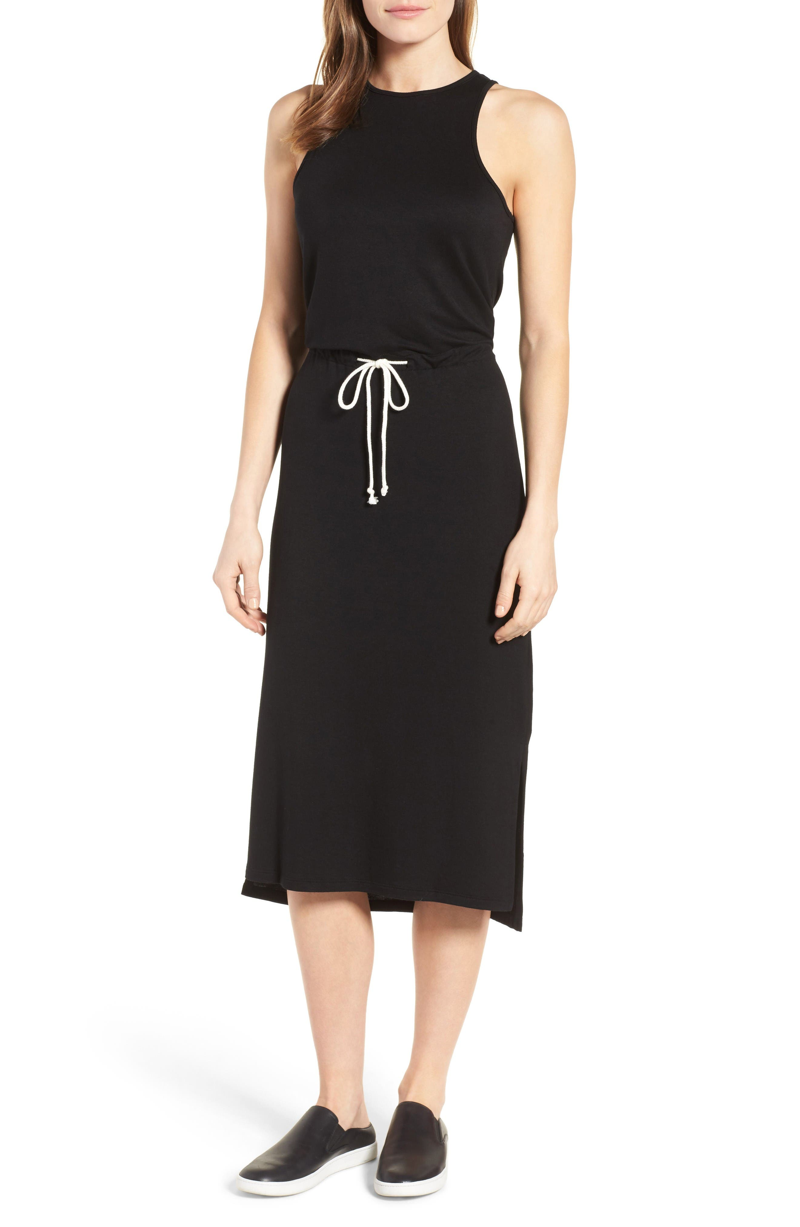 Alternate Image 1 Selected - Press Drawstring Waist Midi Dress