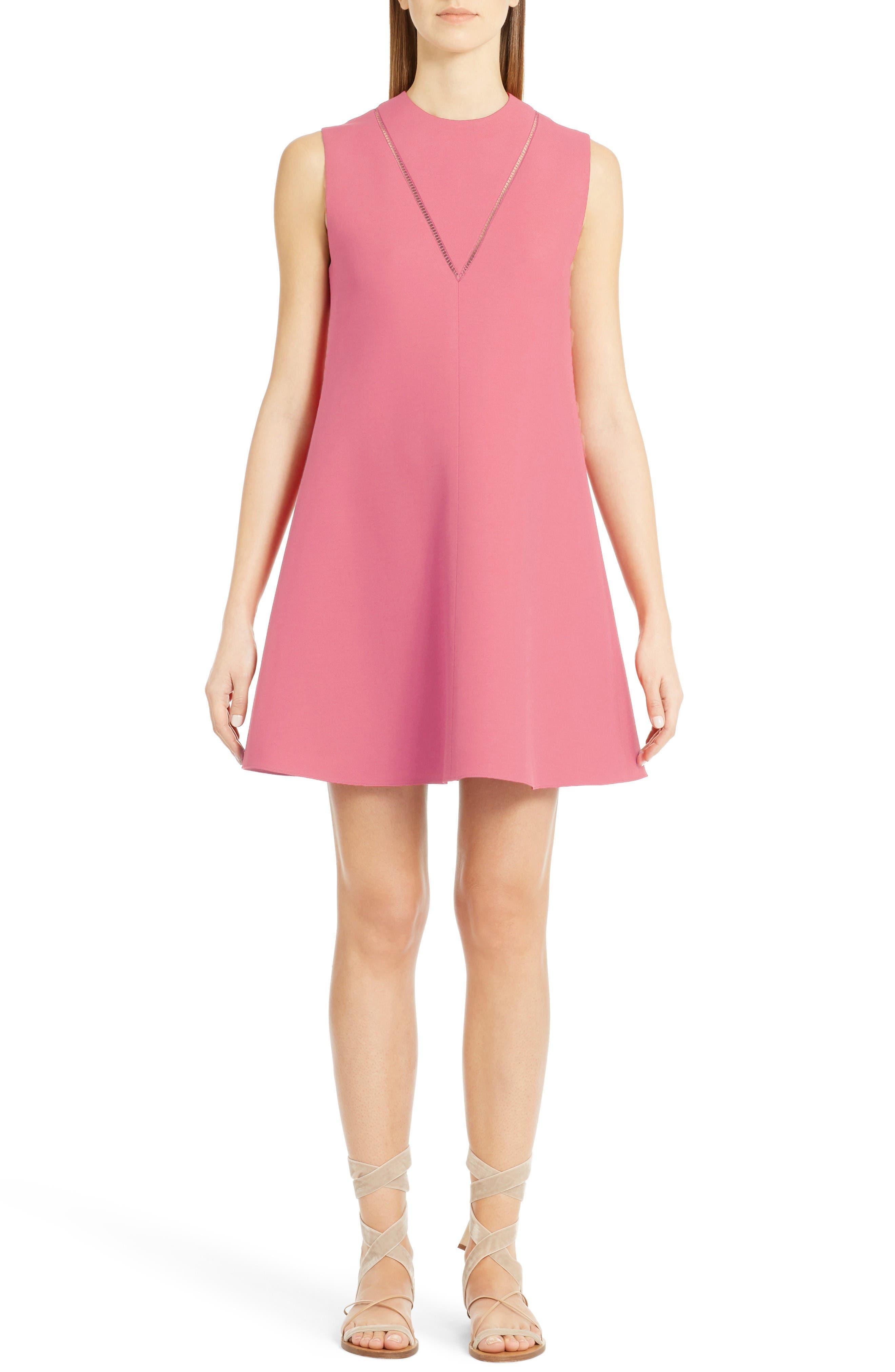 Main Image - Valentino Wool & Silk Crepe A-Line Dress