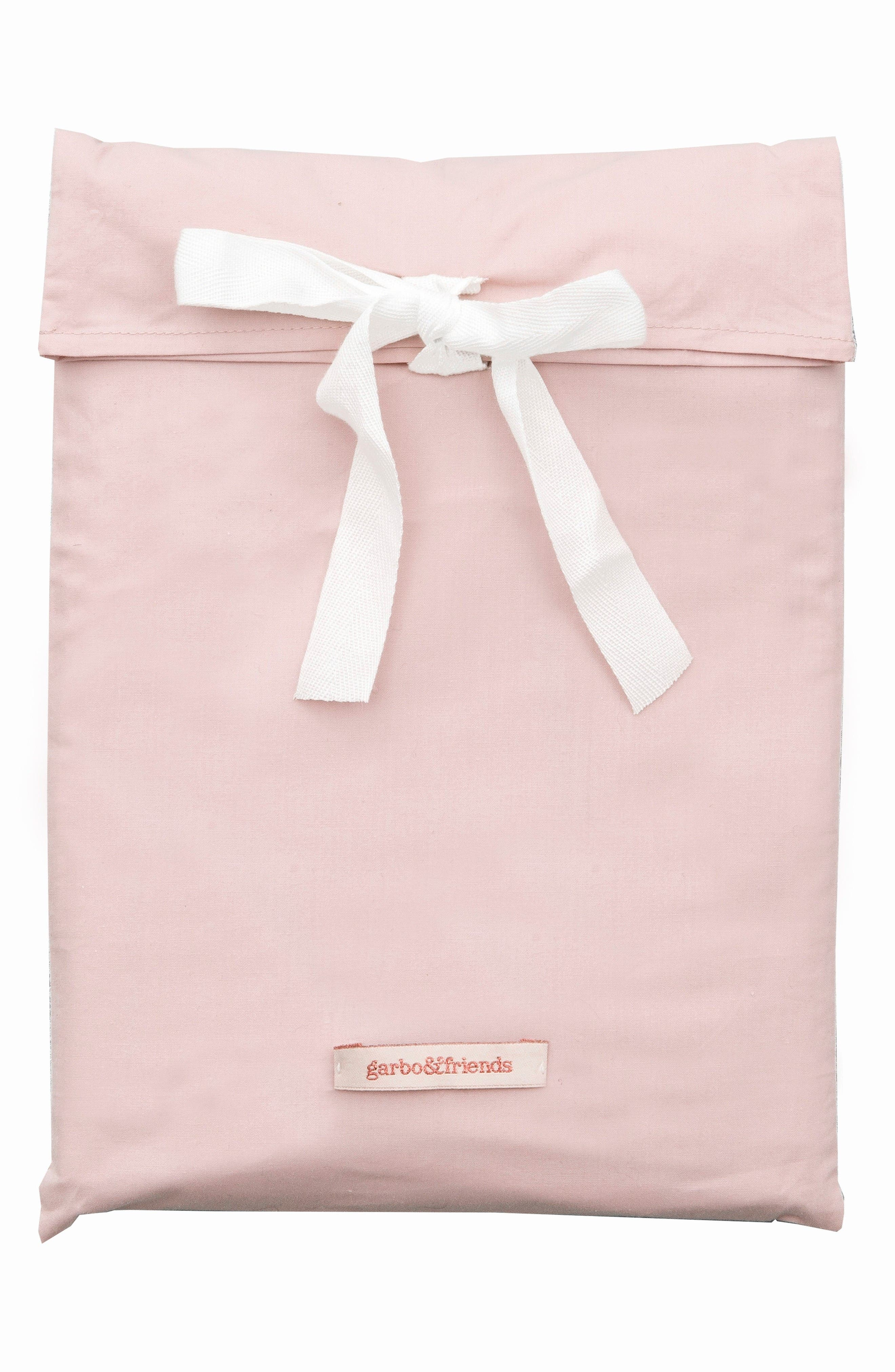 Fitted Crib Sheet,                         Main,                         color, Rosy