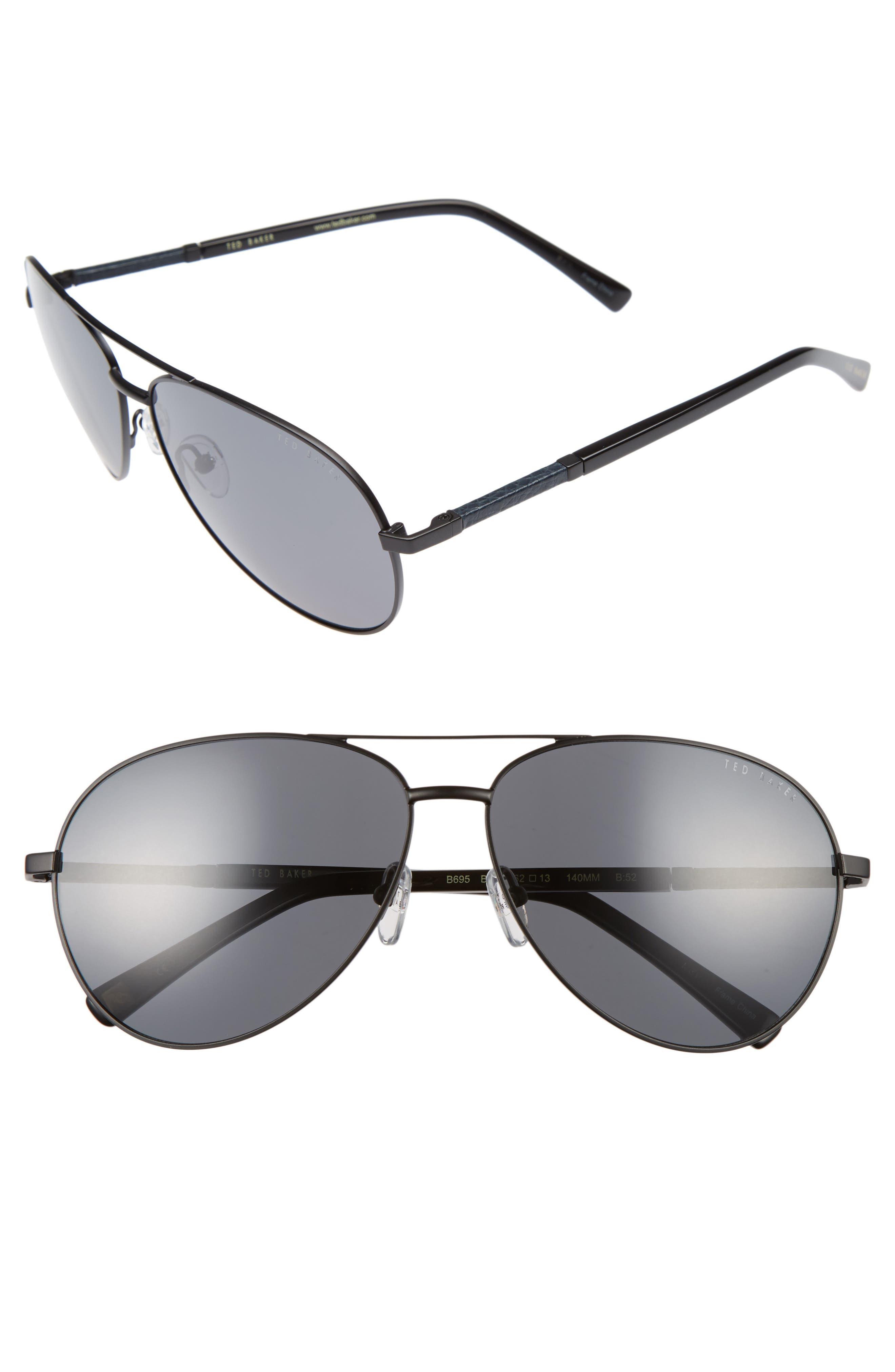 Main Image - Ted Baker London 62mm Polarized Aviator Sunglasses