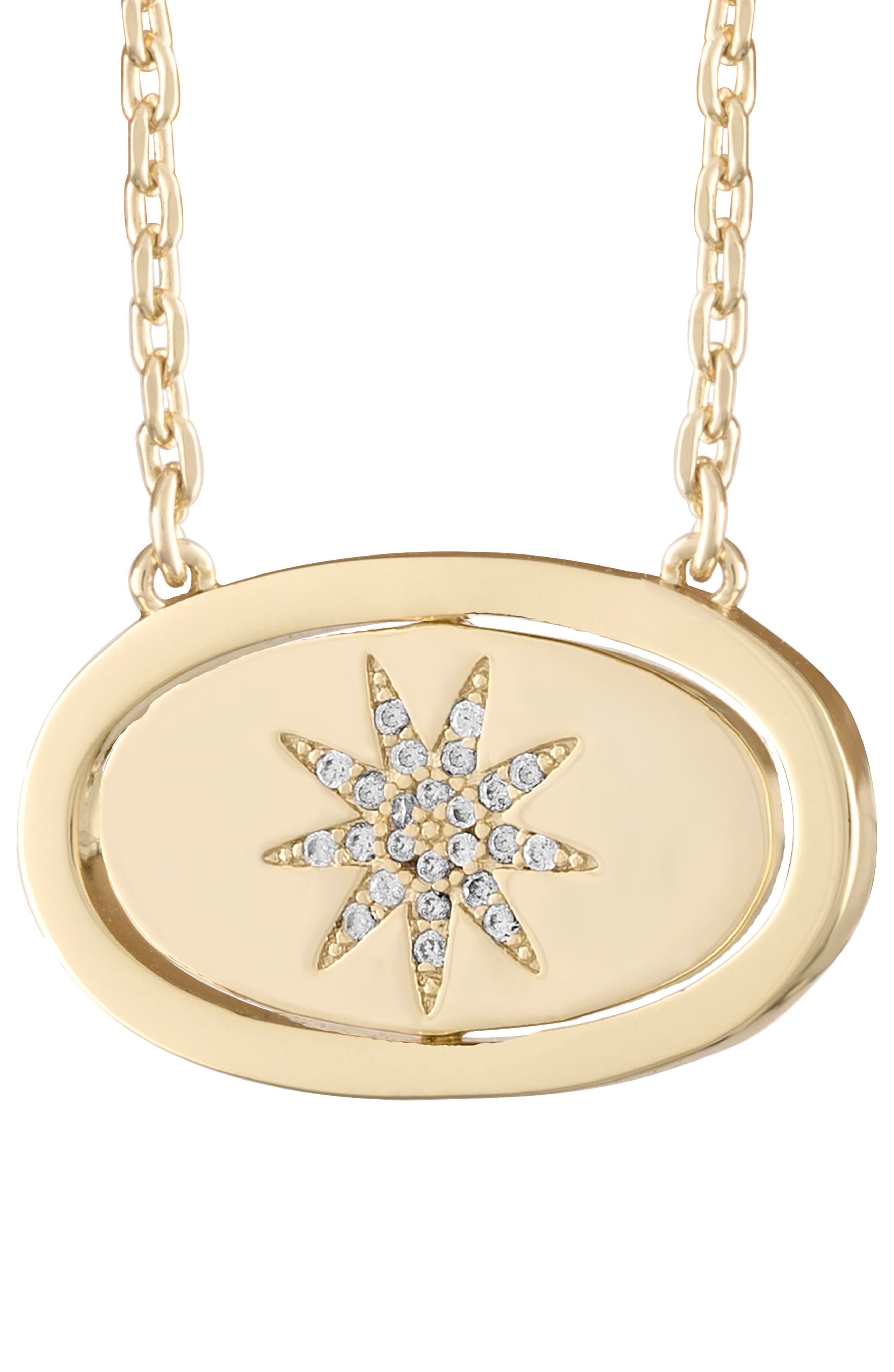 lulu dk Crystal Pendant Necklace