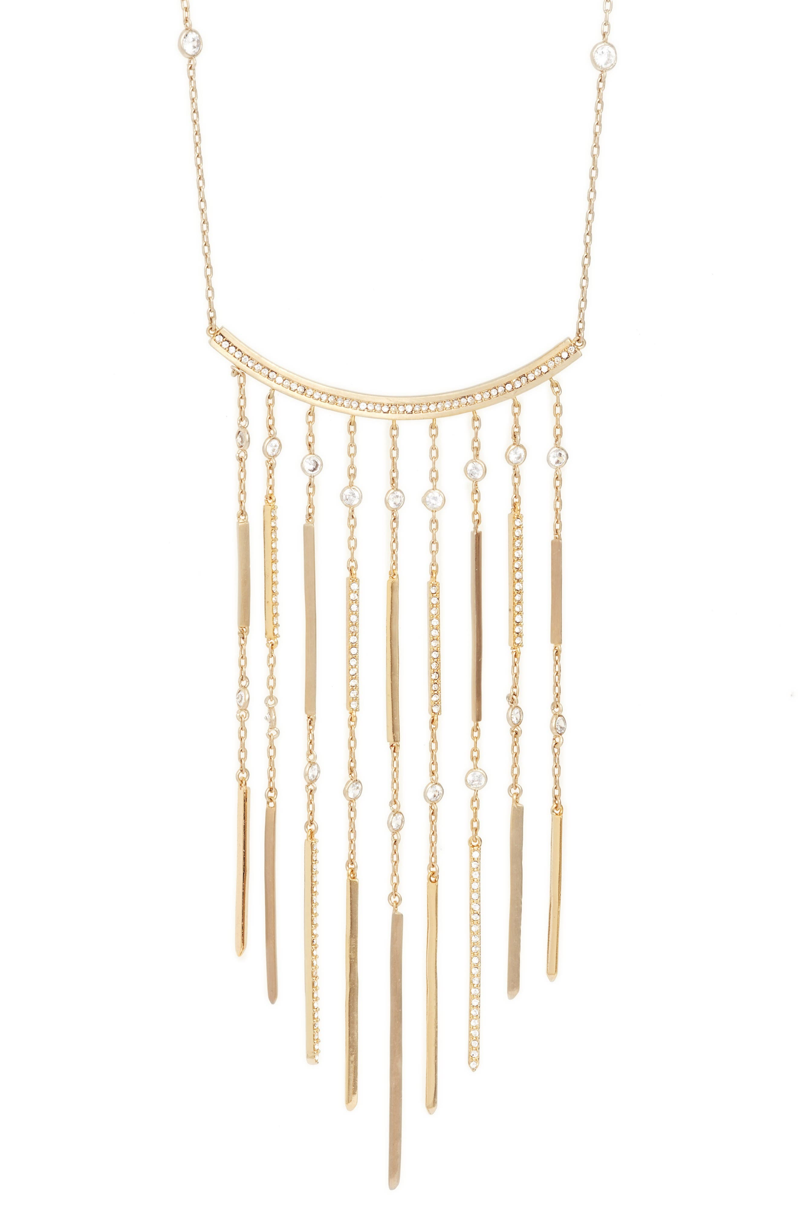 Alternate Image 2  - Jenny Packham Fringe Pendant Necklace