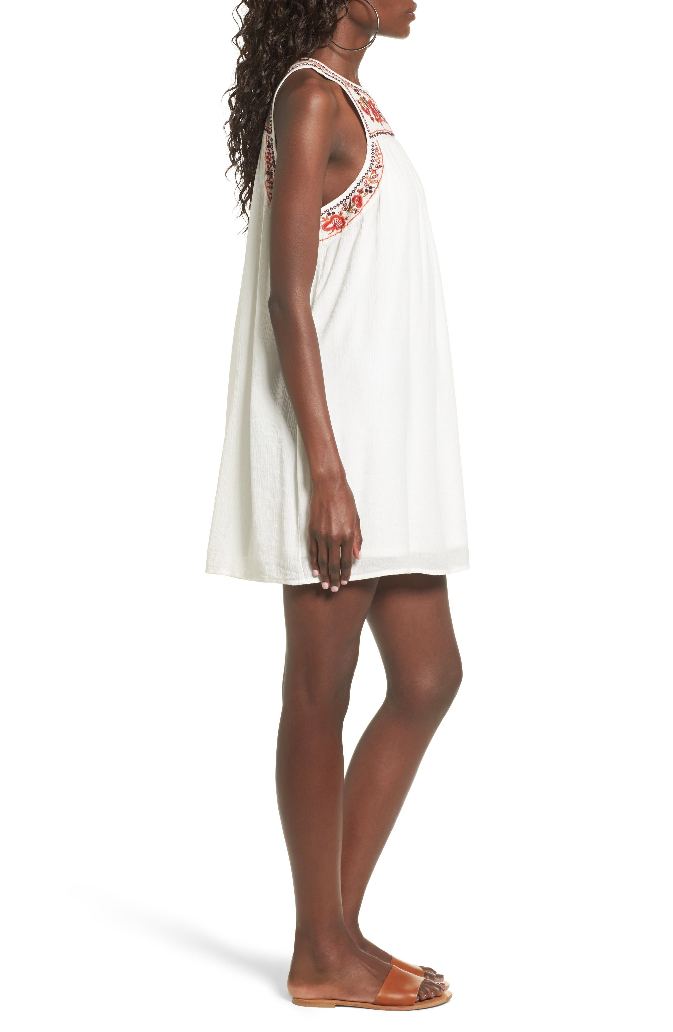 Alternate Image 3  - Sun & Shadow Embroidered Shift Dress