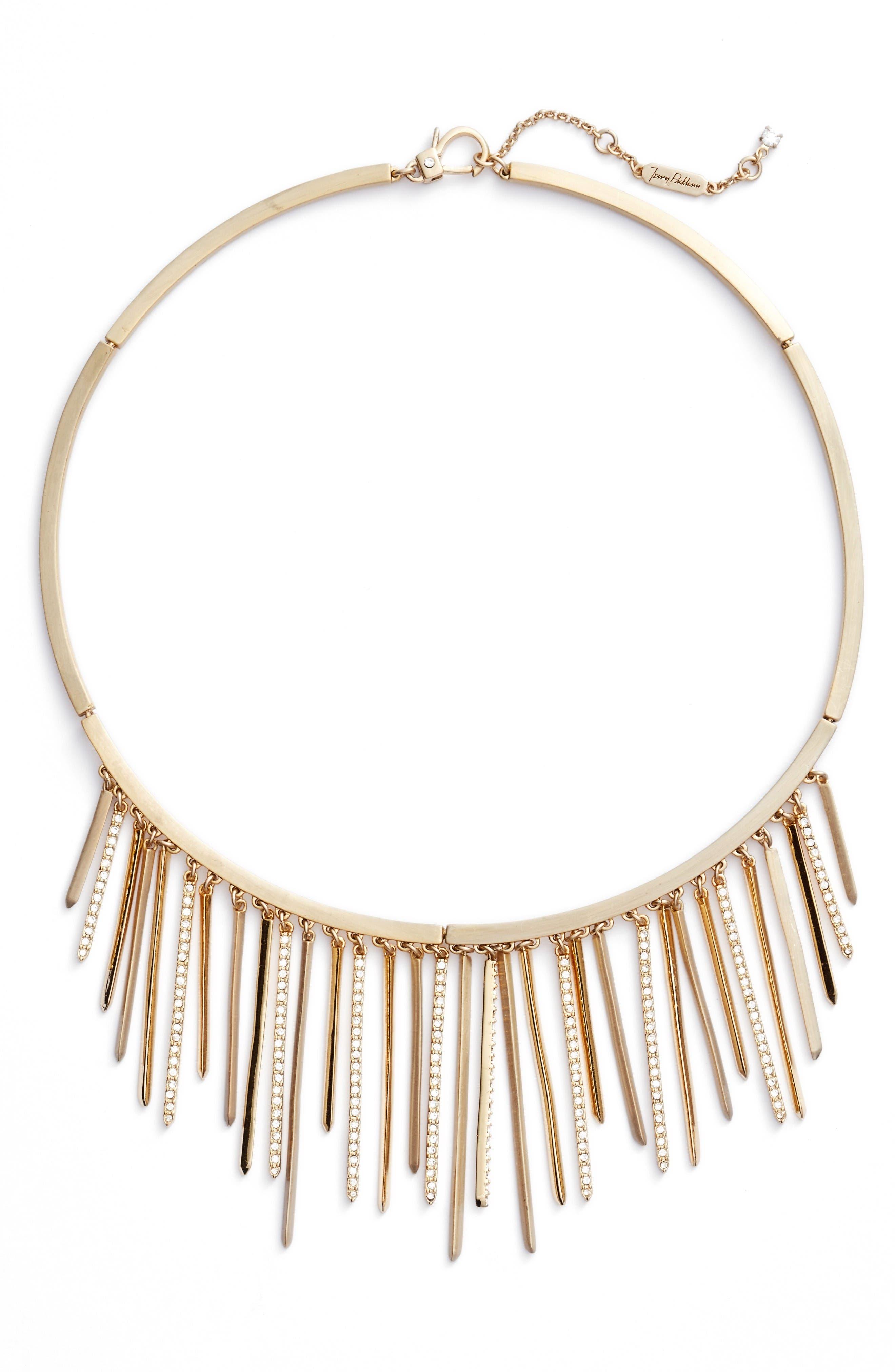Main Image - Jenny Packham Fringe Frontal Necklace