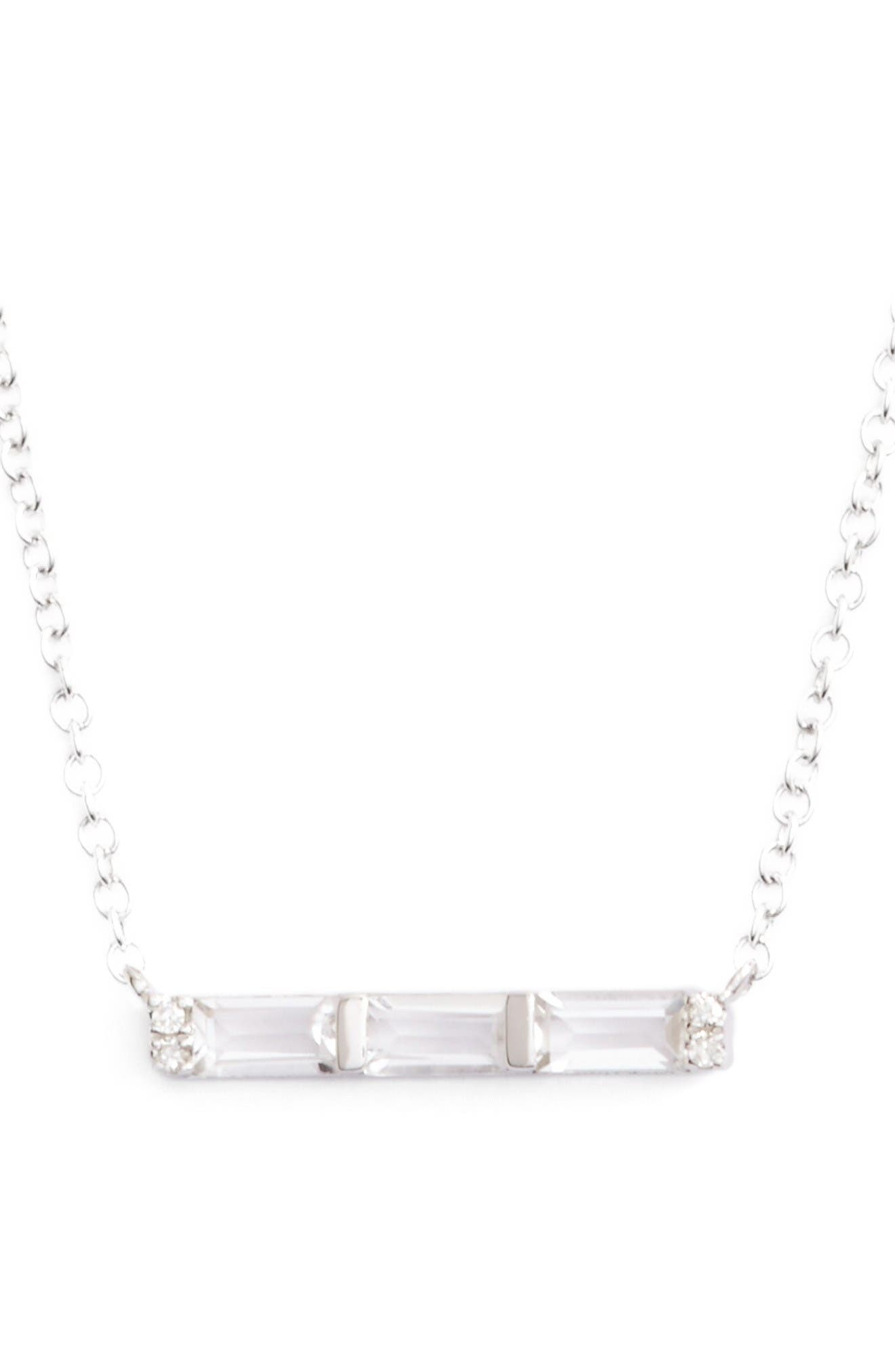 EF COLLECTION Bar Pendant Necklace
