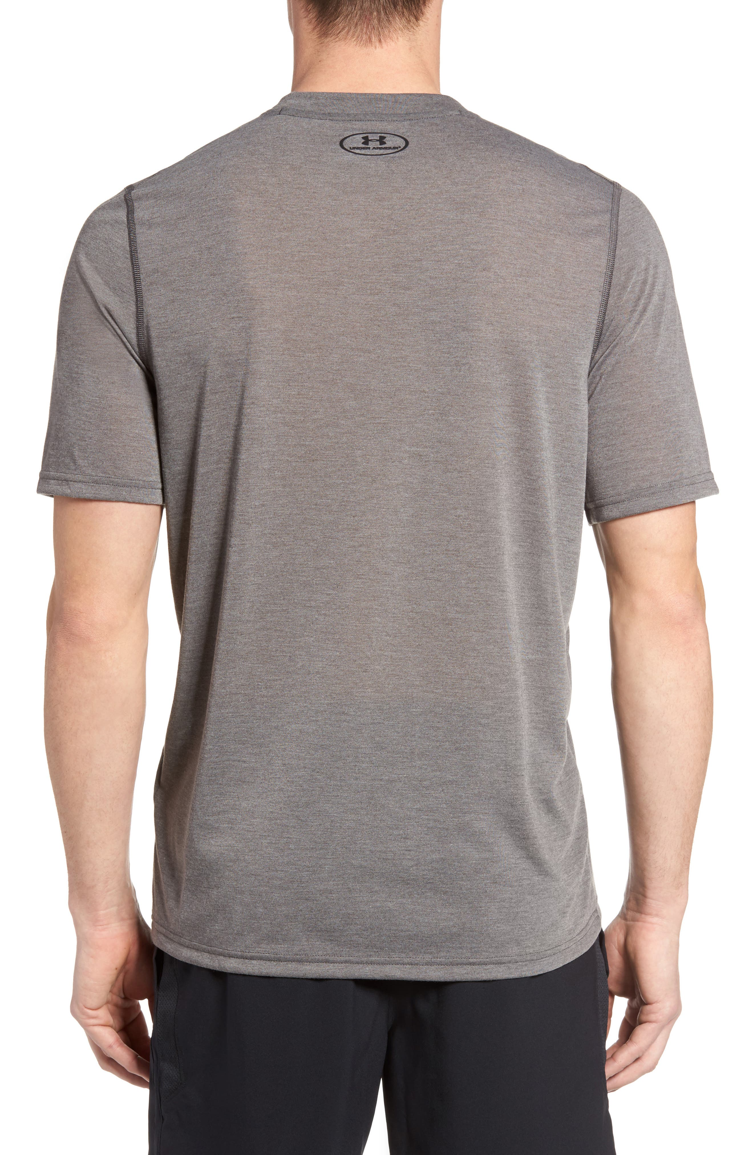 Regular Fit Threadborne T-Shirt,                             Alternate thumbnail 2, color,                             Carbon Heather