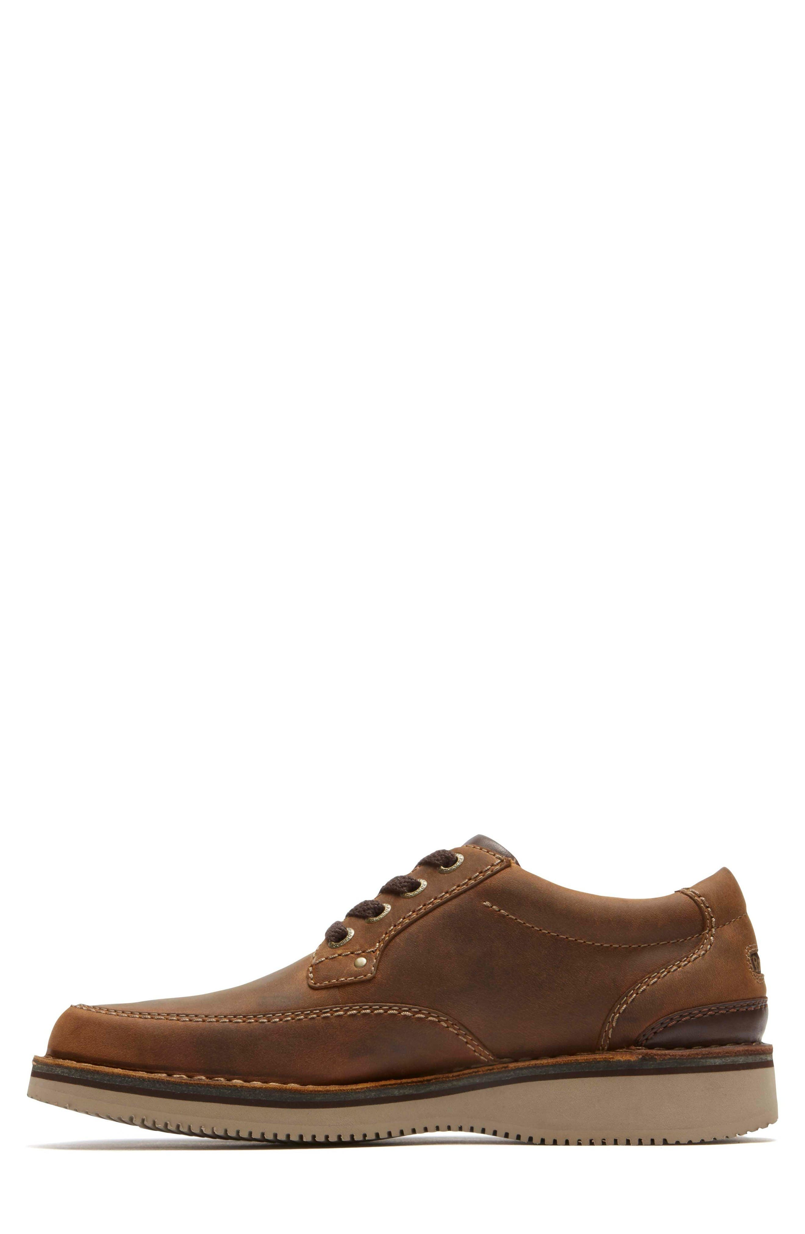 Prestige Point Mudguard Oxford,                             Alternate thumbnail 3, color,                             Beeswax Leather
