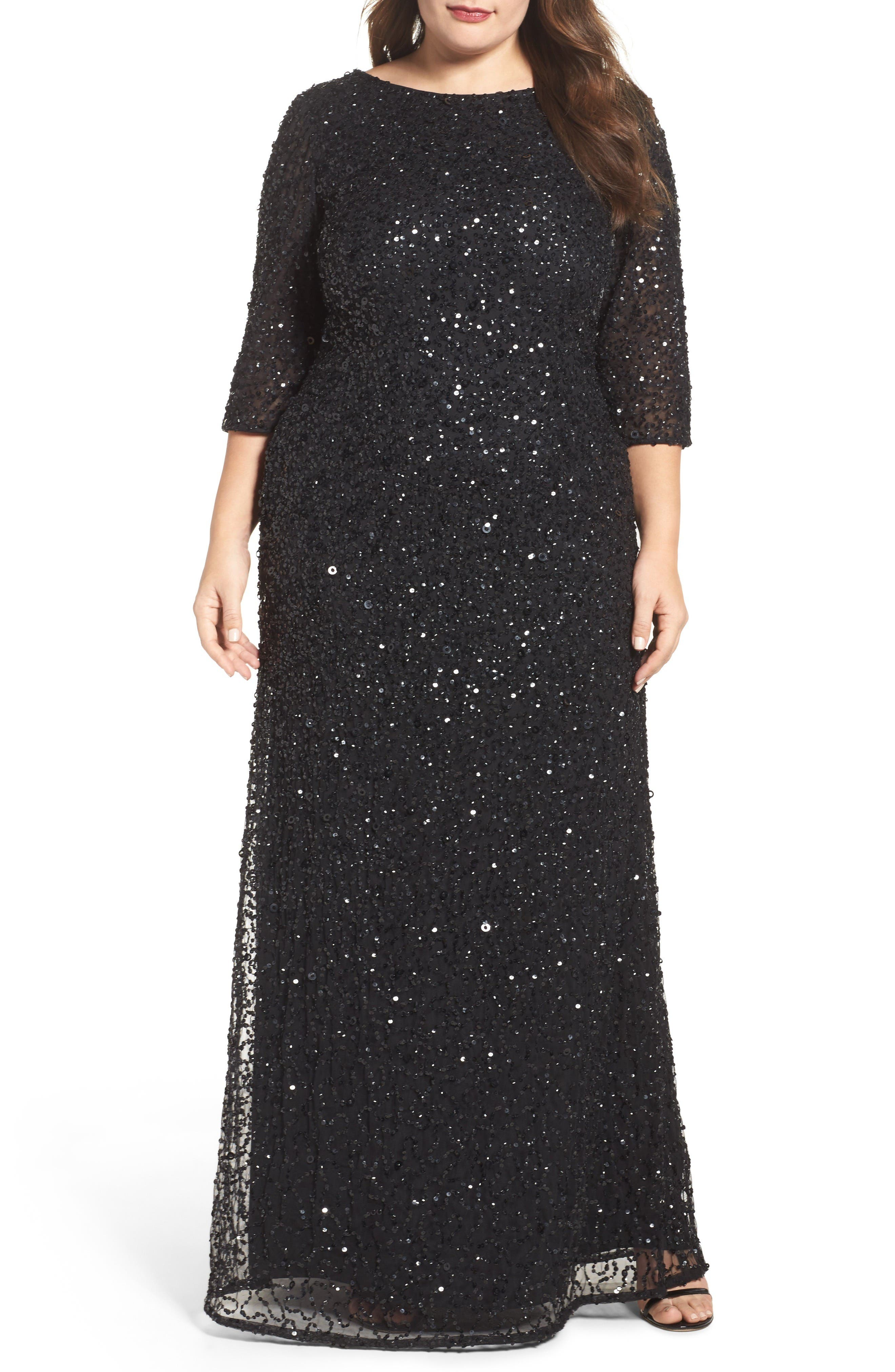 Adrianna Papell Plus Size Long Sleeve Dresses