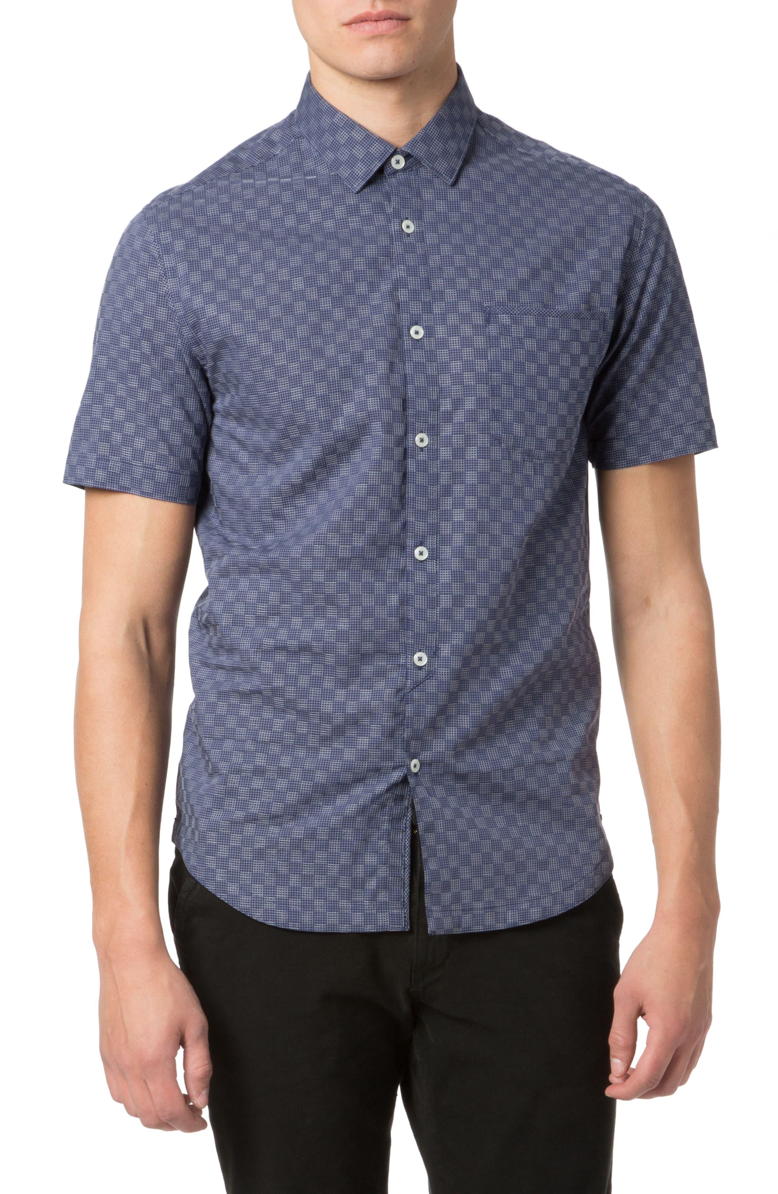 Good Man Brand Trim Fit Graph Print Sport Shirt