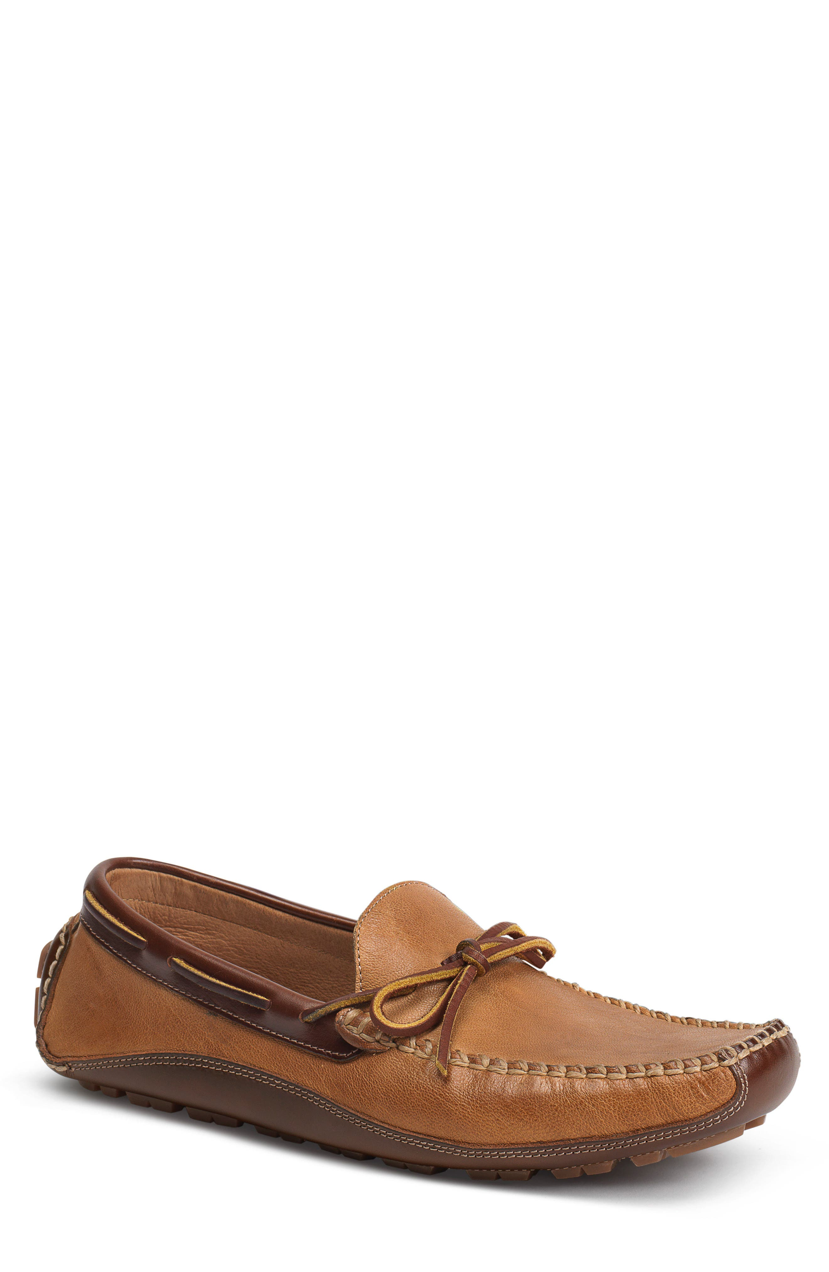 'Drake' Leather Driving Shoe,                         Main,                         color, Tan Leather