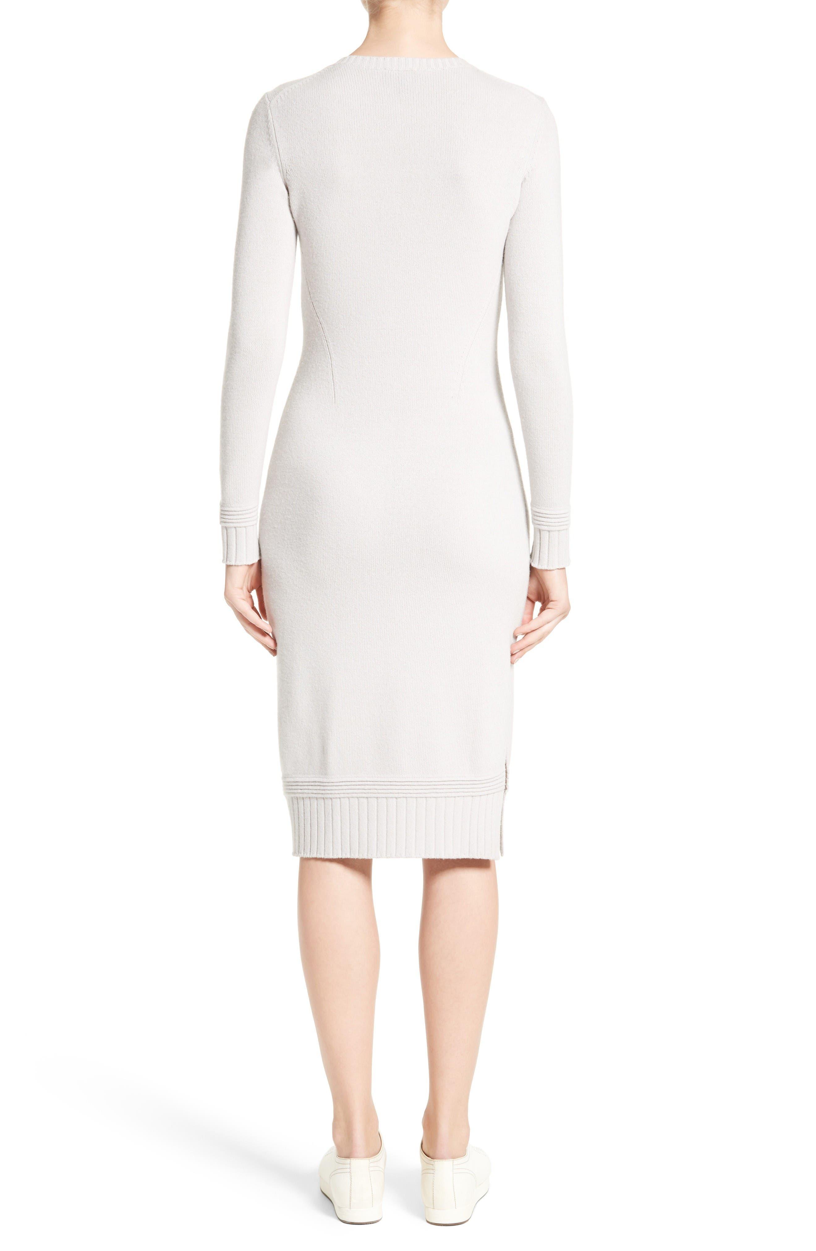 Armani Jeans Knit Sweater Dress,                             Alternate thumbnail 2, color,                             Light Grey