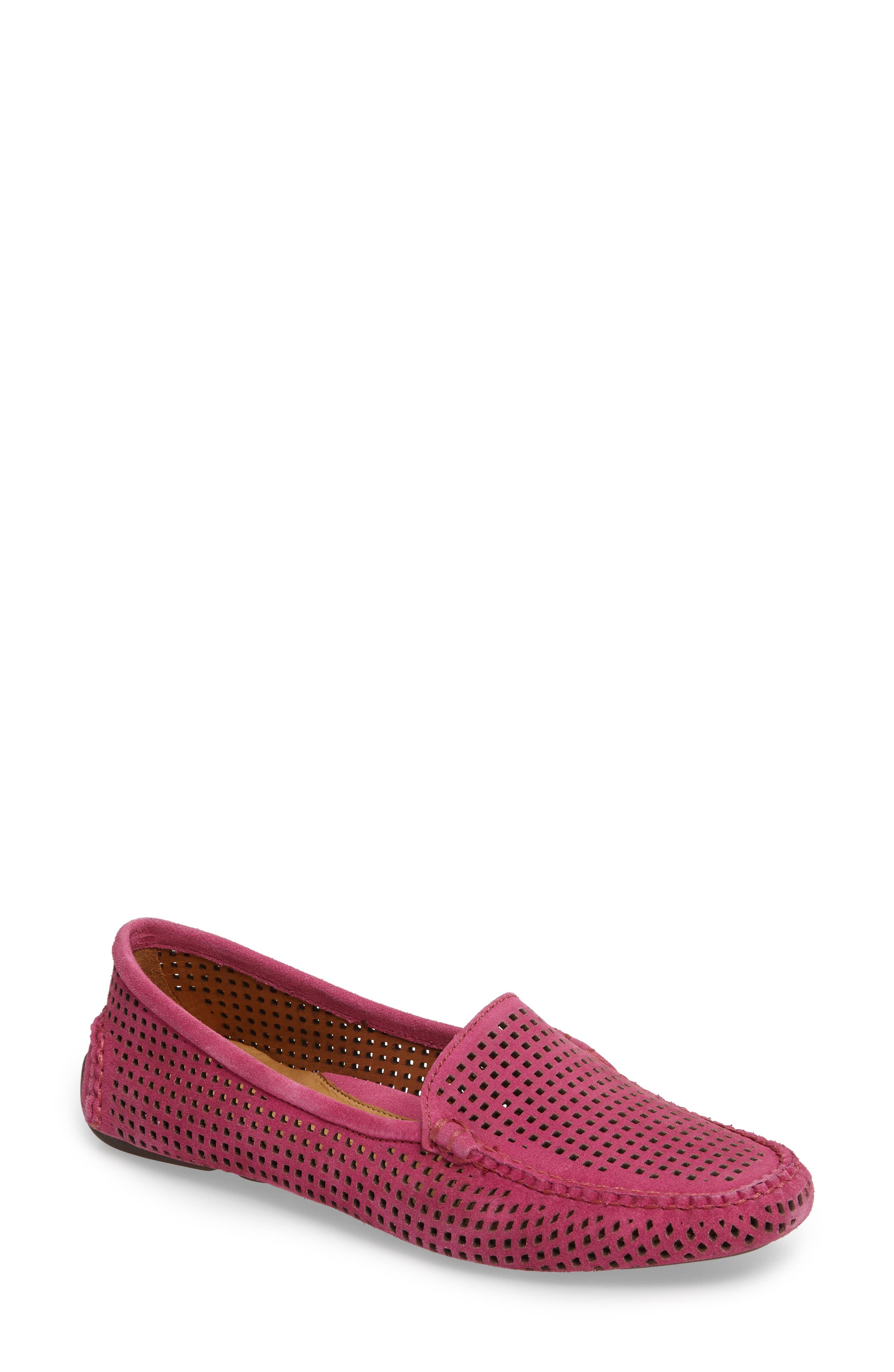 'Barrie' Flat,                             Main thumbnail 1, color,                             Hot Pink Suede