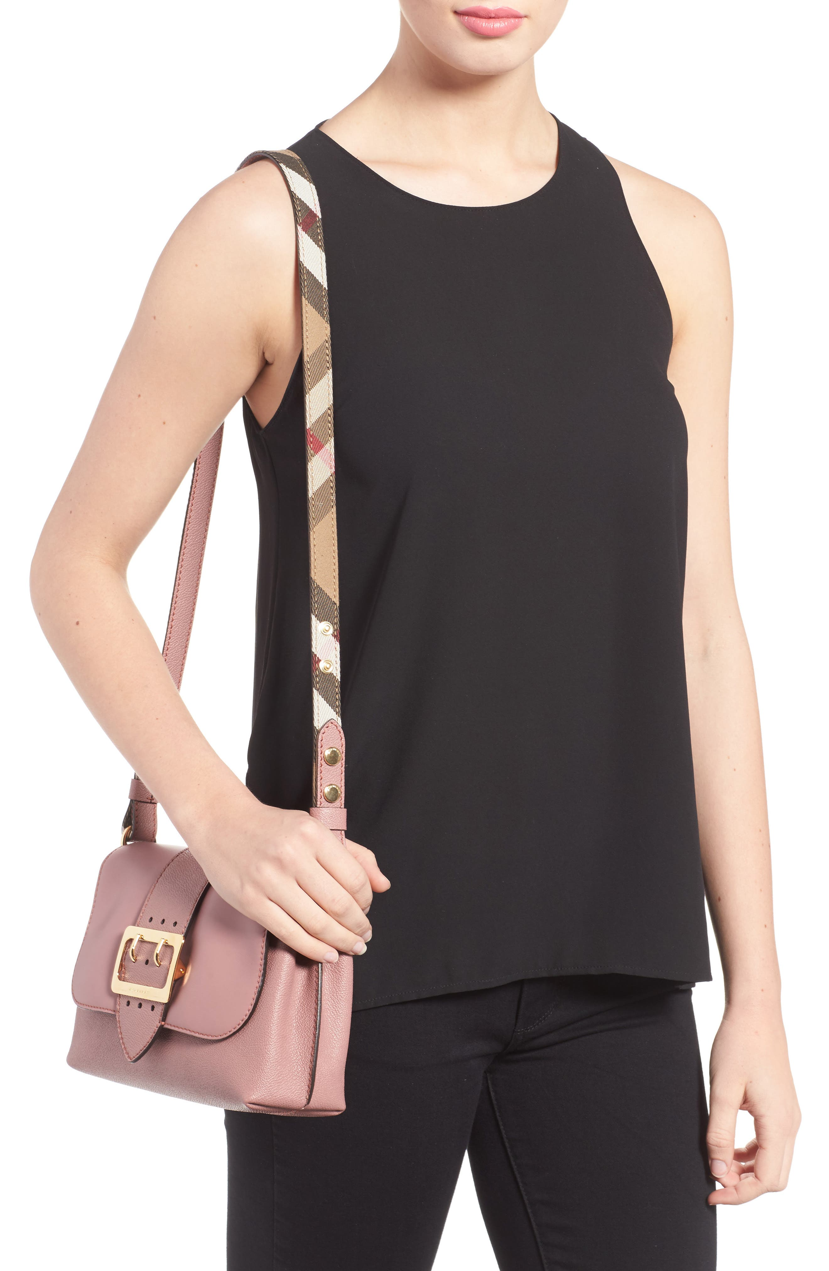 Small Medley Leather Shoulder Bag,                             Alternate thumbnail 2, color,                             Dusty Pink