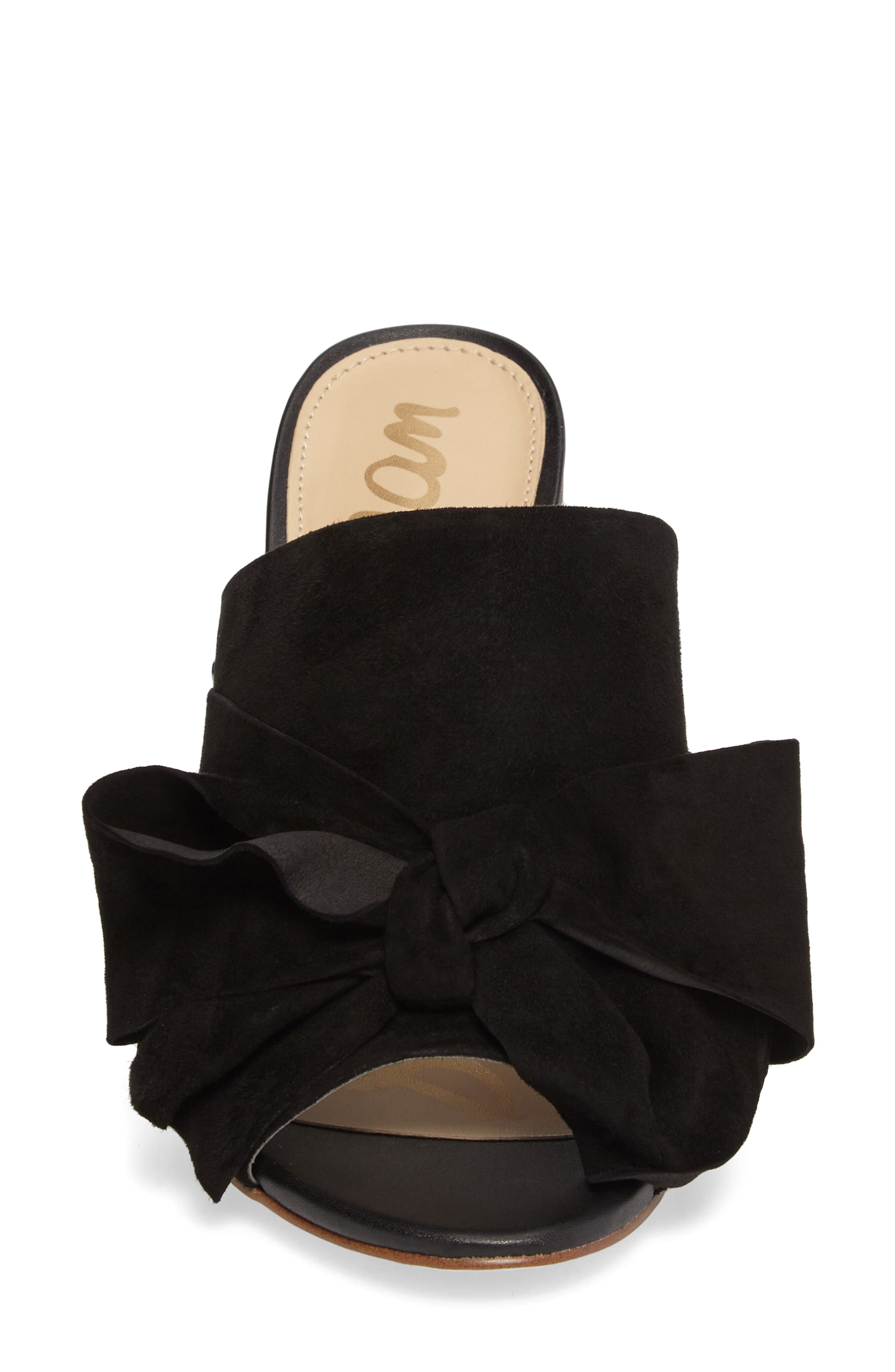 Yumi Bow Mule,                             Alternate thumbnail 4, color,                             Black