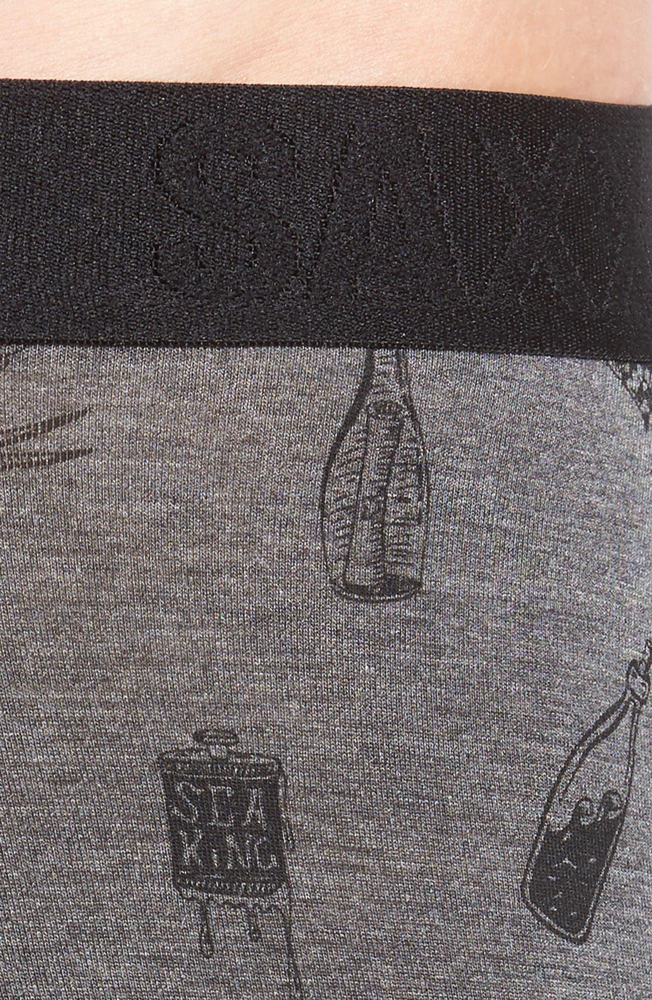 Vibe Boxer Briefs,                             Alternate thumbnail 4, color,                             Dark Charcoal Lucky Sailor