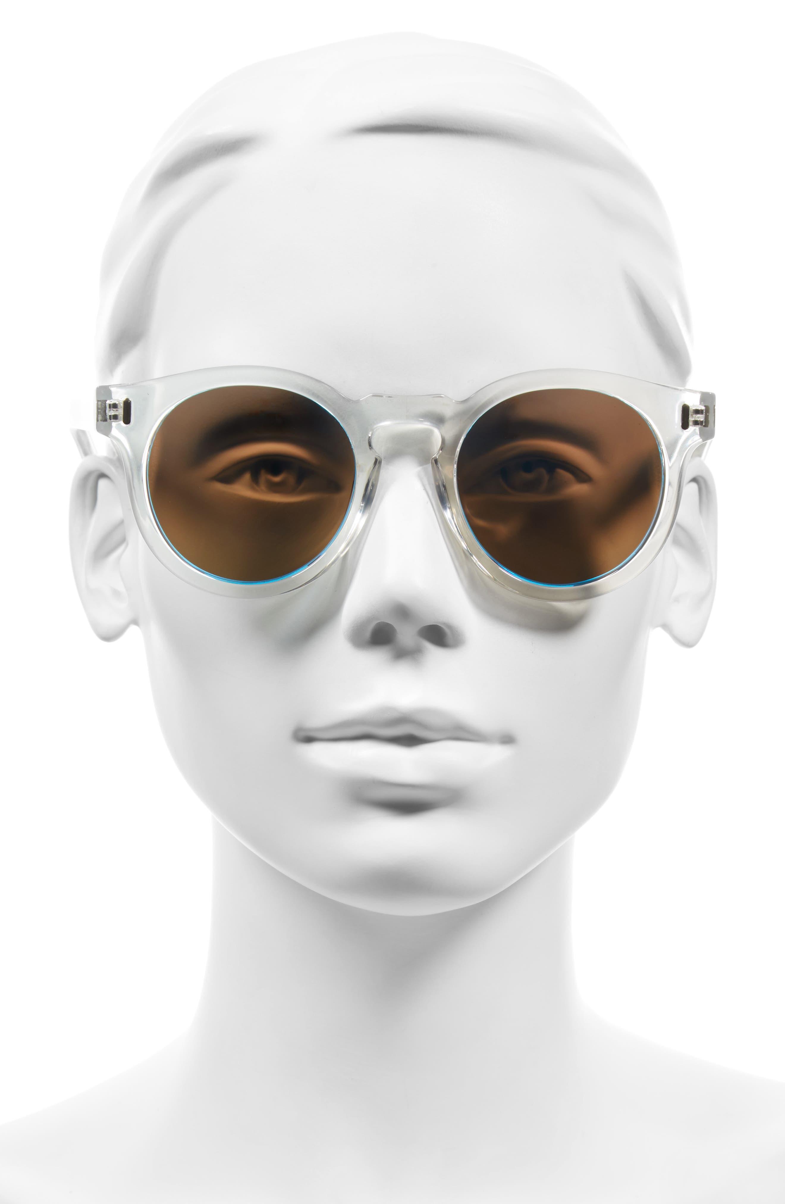Hill 50mm Polarized Sunglasses,                             Alternate thumbnail 3, color,                             Ocean Eyes Blue