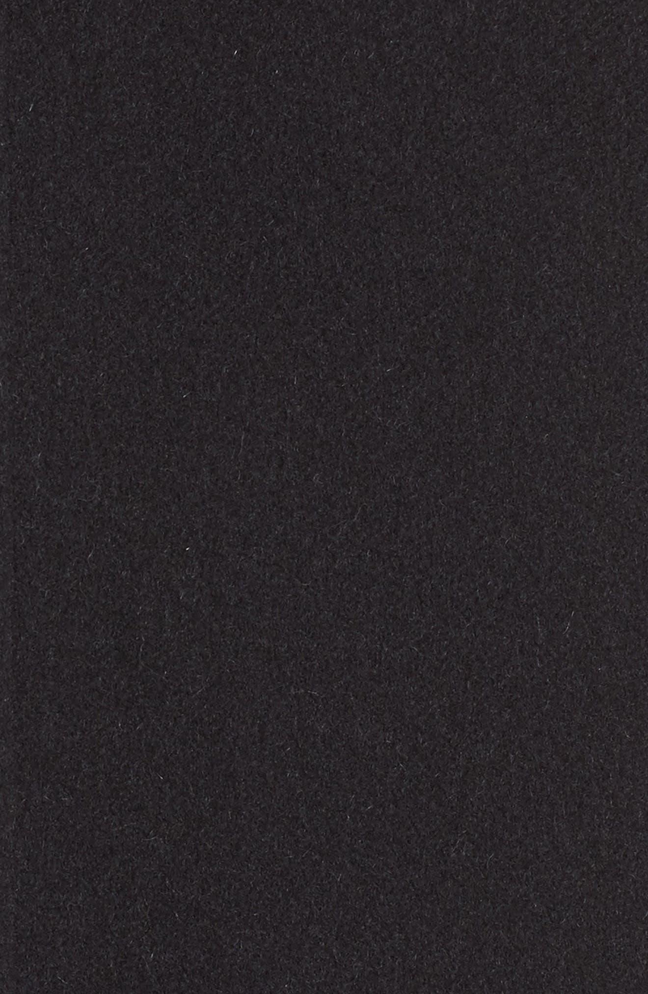 Wool, Alpaca & Cashmere Asymmetrical Vest,                             Alternate thumbnail 3, color,                             Black