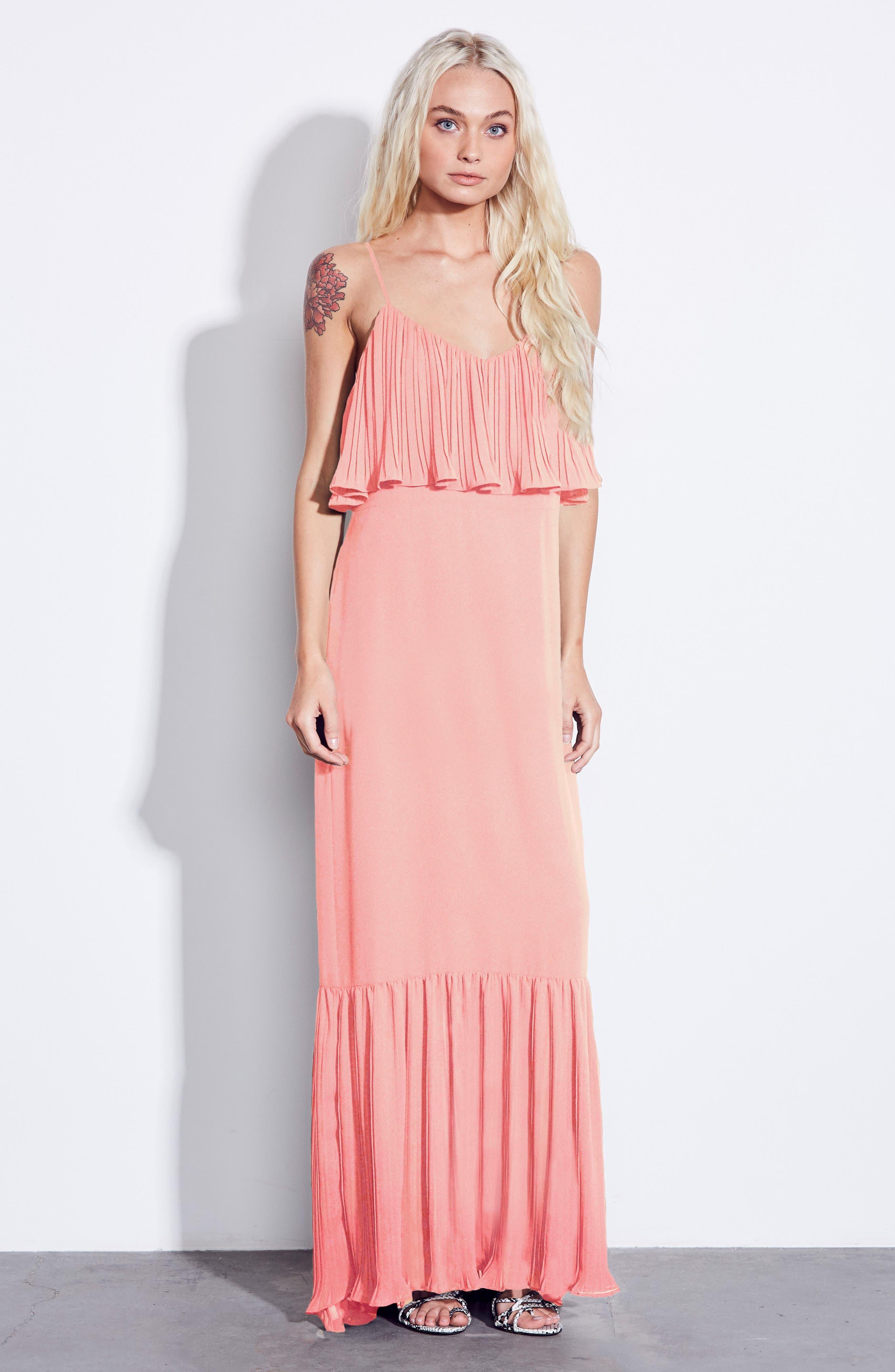 Moroccan Villa Maxi Dress,                             Alternate thumbnail 2, color,                             Desert Sunset