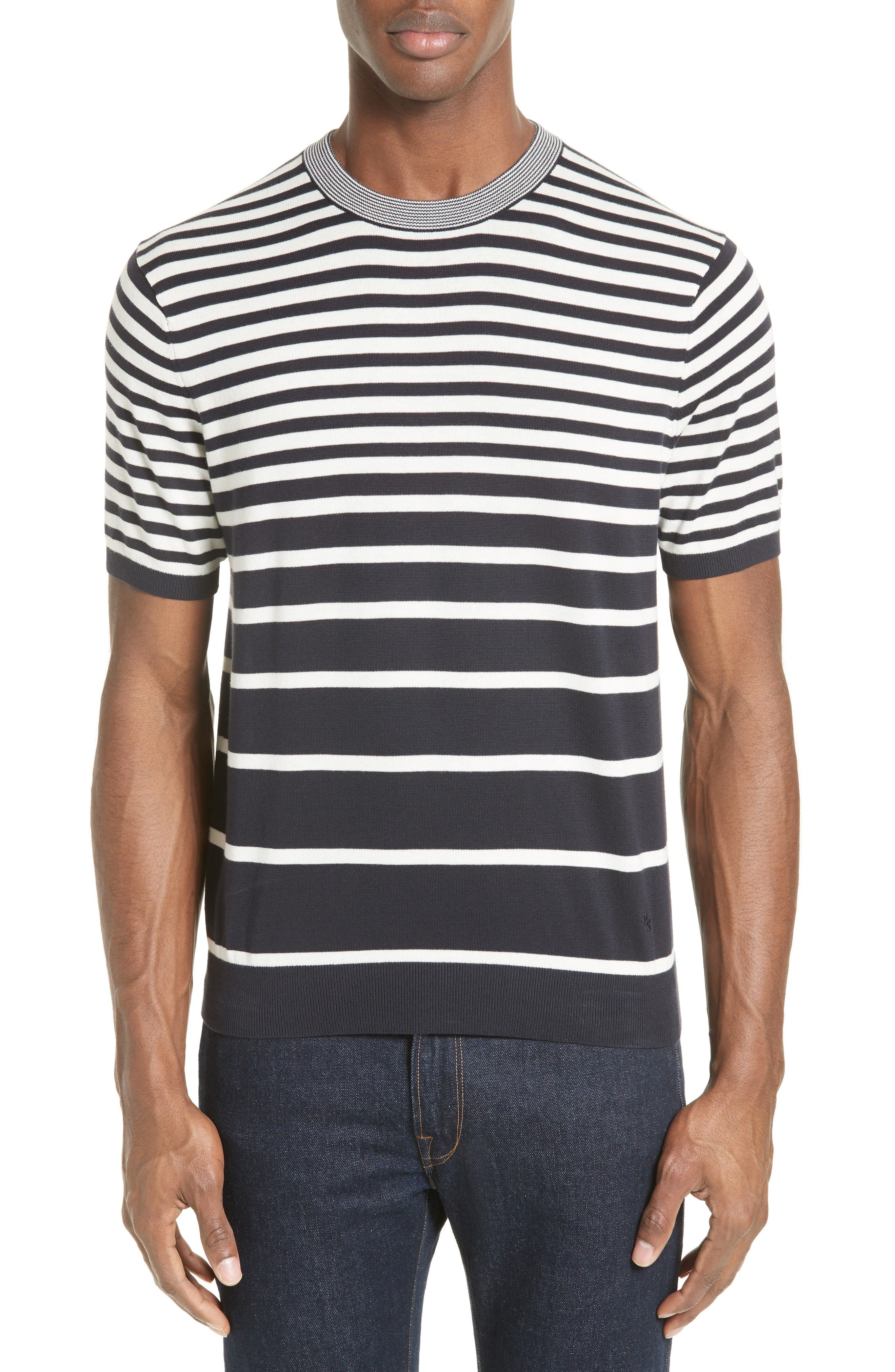 Variegated Stripe Sweater,                         Main,                         color, Navy