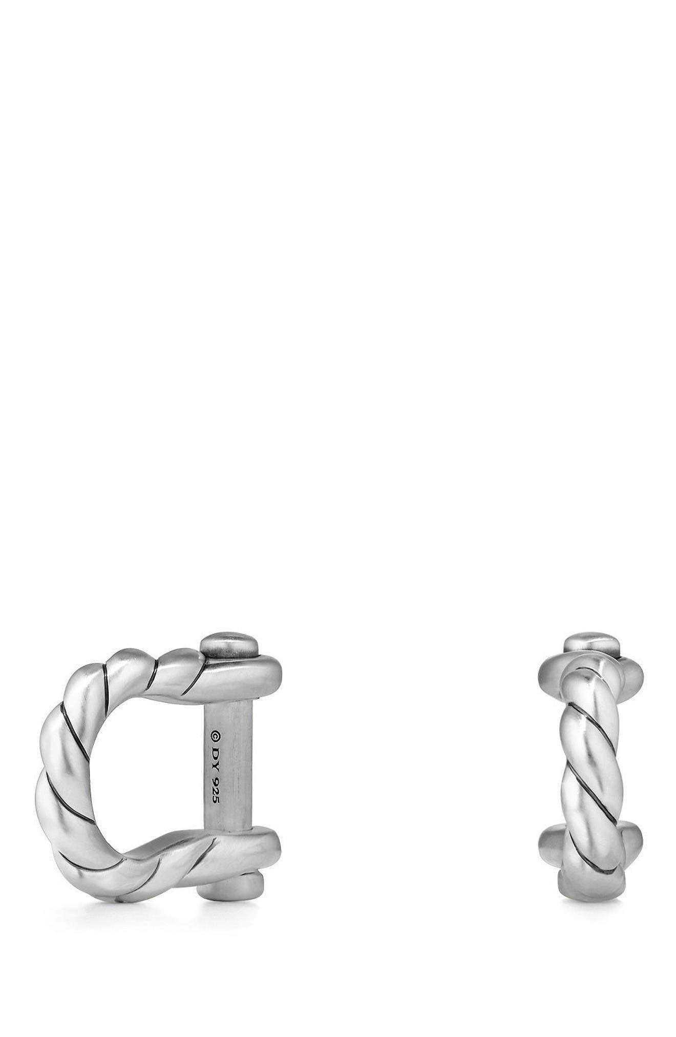 DAVID YURMAN Maritime Shackle Silver Cuff Links