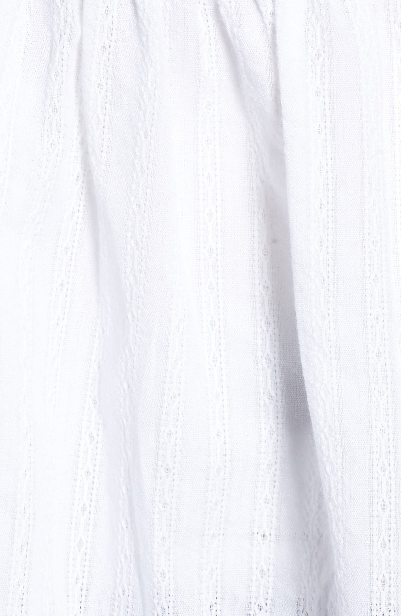 Alternate Image 6  - Caslon® Embroidered Cotton Top (Regular & Petite)
