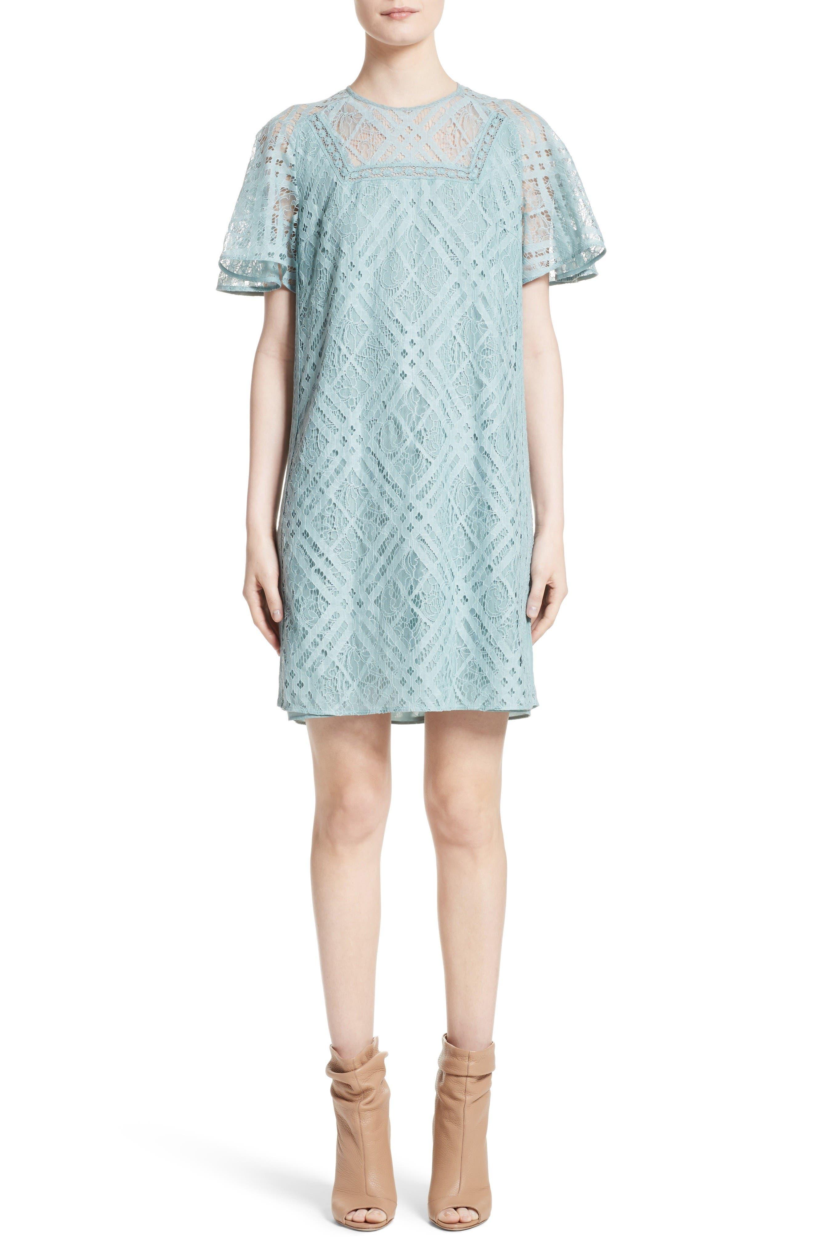 Burberry Keri Floral Check Lace Dress
