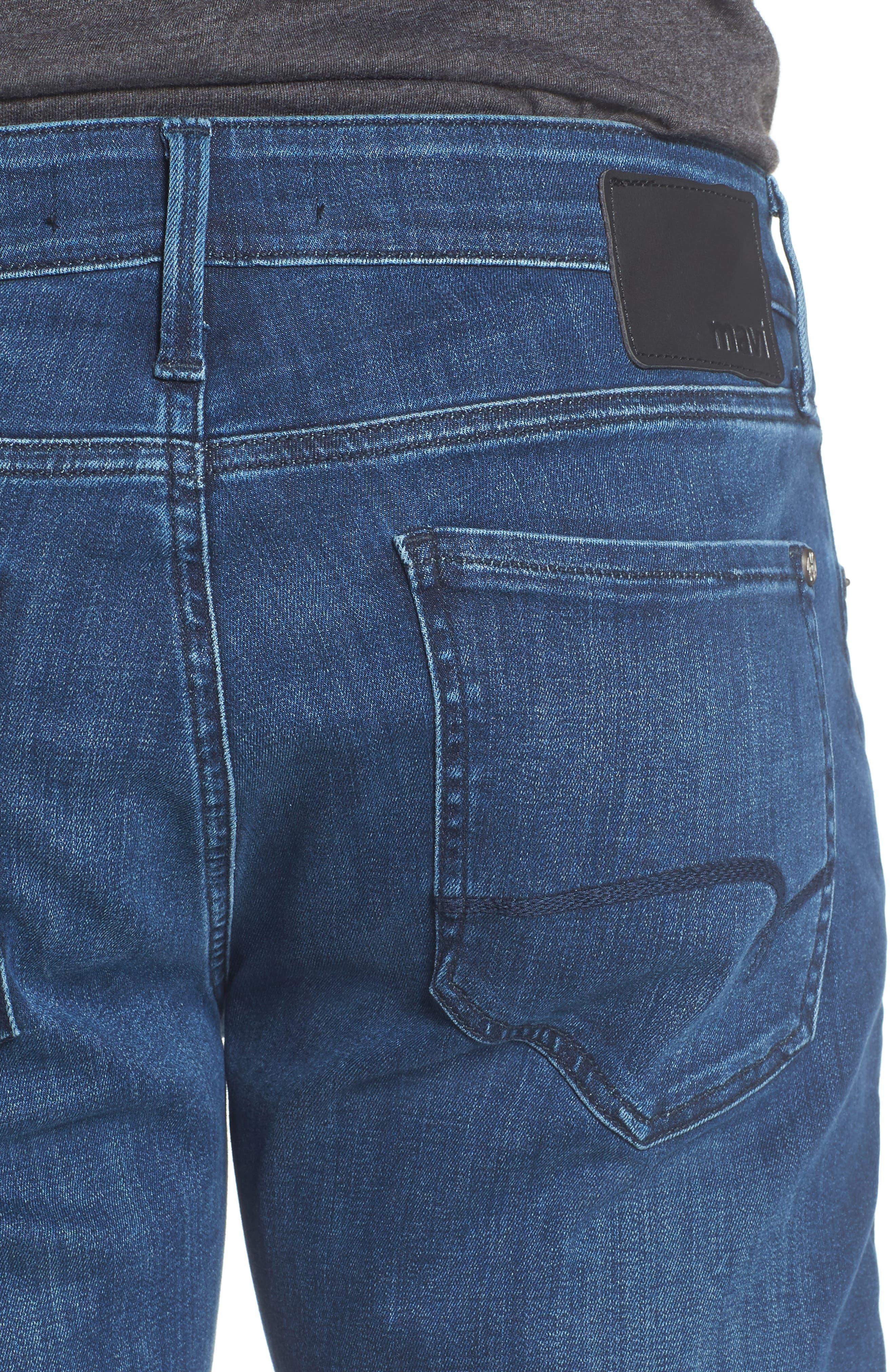 Zach Straight Leg Jeans,                             Alternate thumbnail 4, color,                             Mid Comfort