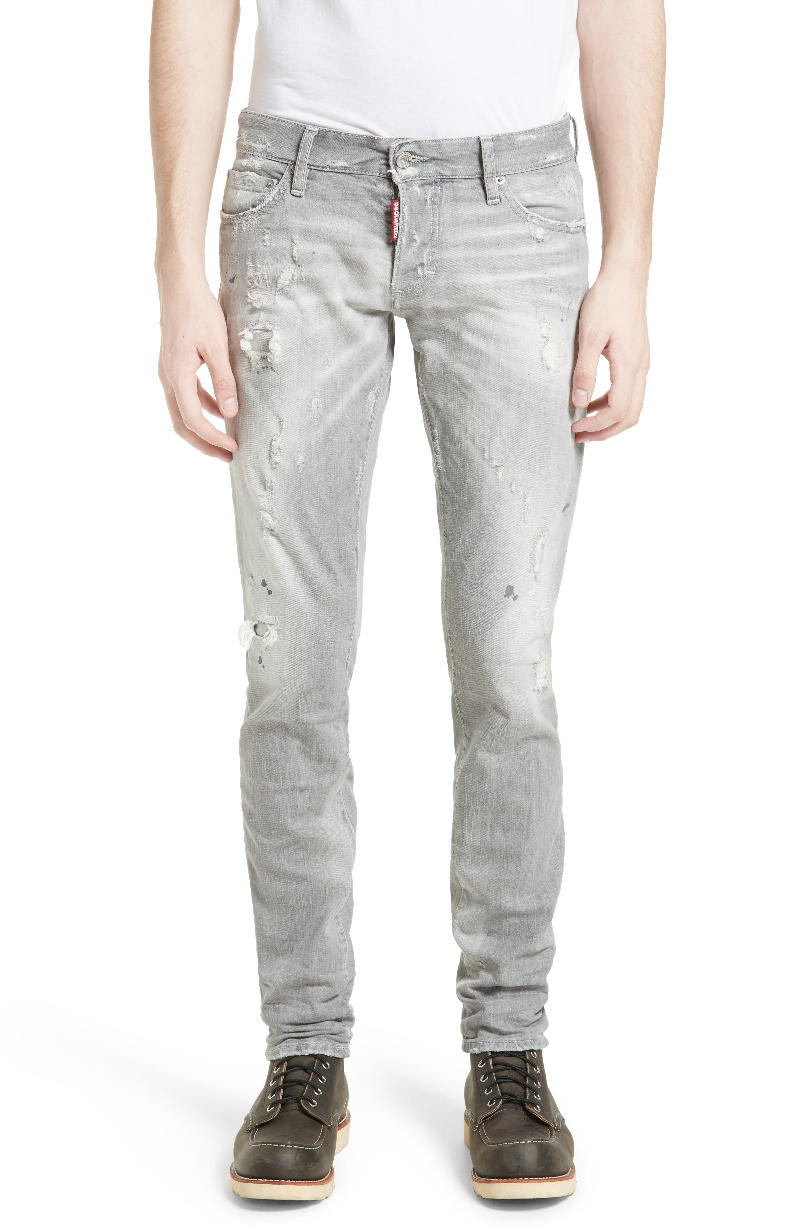 Grey Slim Fit Jeans,                             Main thumbnail 1, color,                             Grey