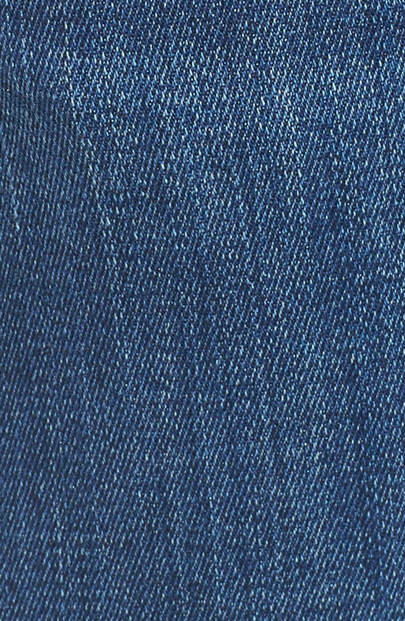 Zach Straight Leg Jeans,                             Alternate thumbnail 5, color,                             Mid Comfort
