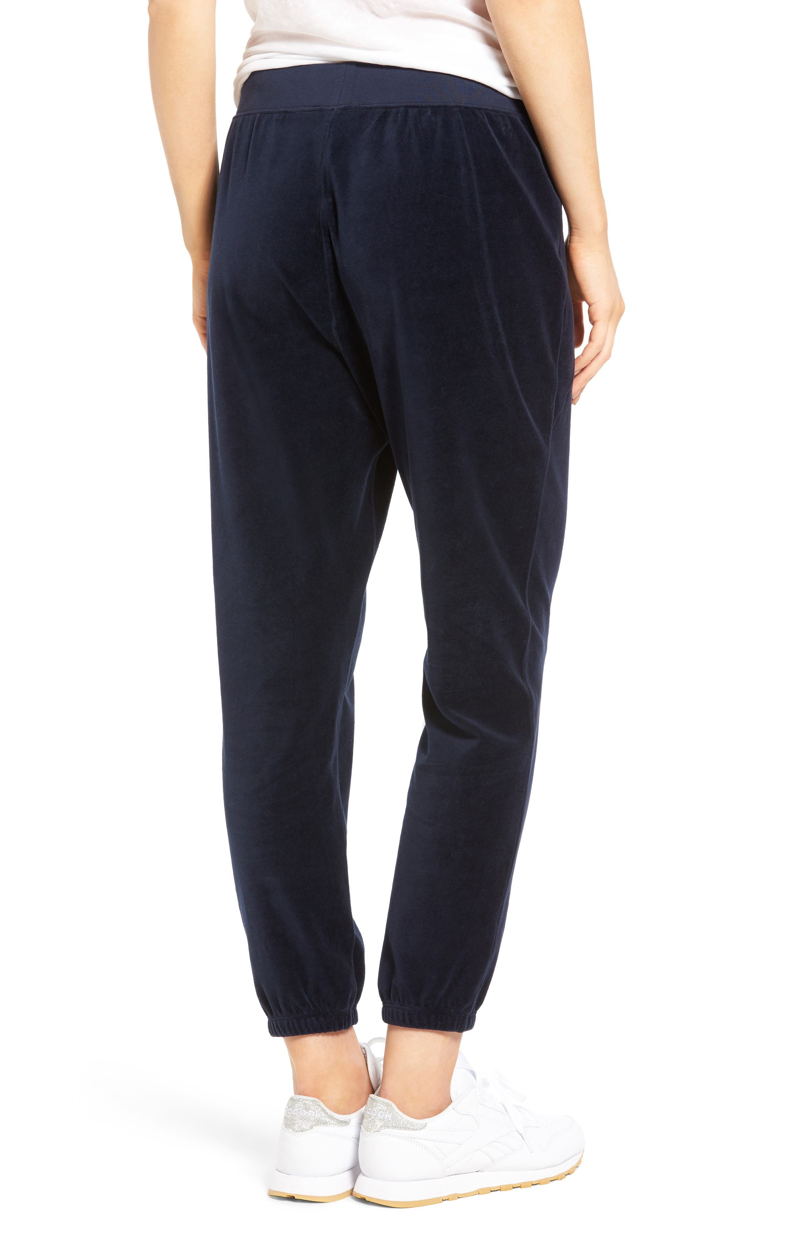 Alternate Image 2  - Juicy Couture Silverlake Velour Track Pants