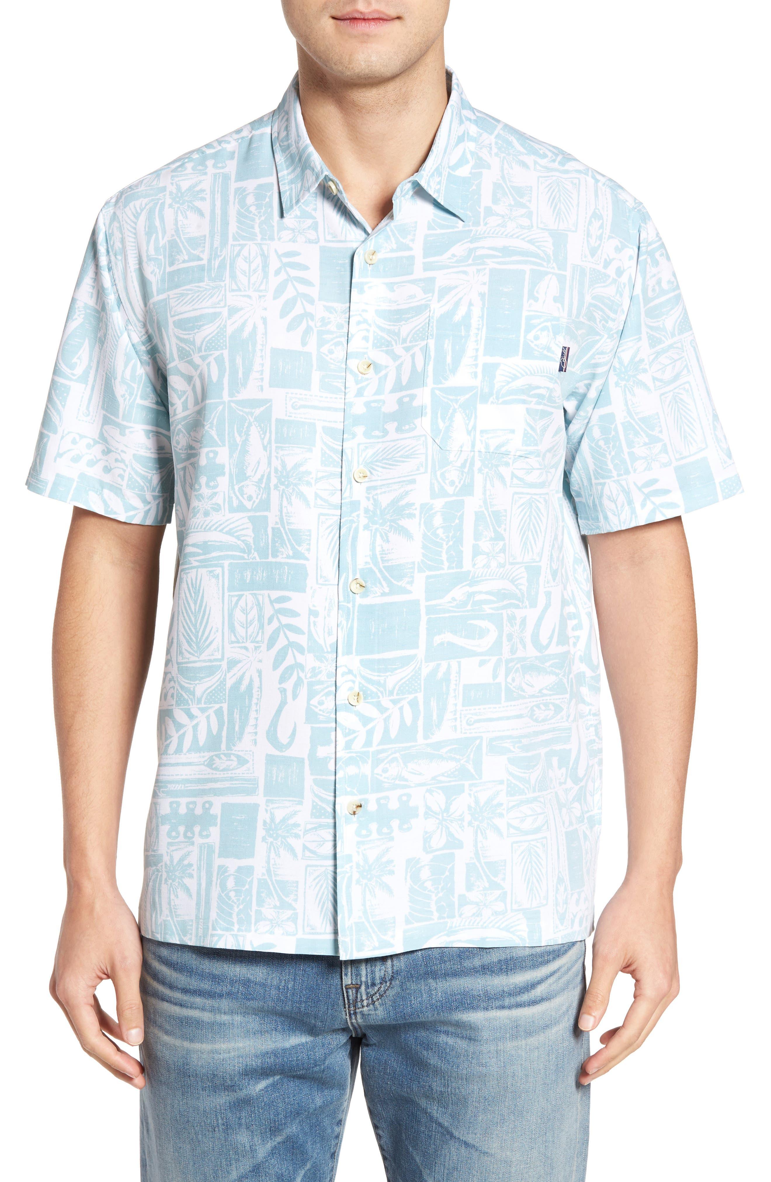 JACK ONEILL Driftwood Regular Fit Short Sleeve Print Sport Shirt