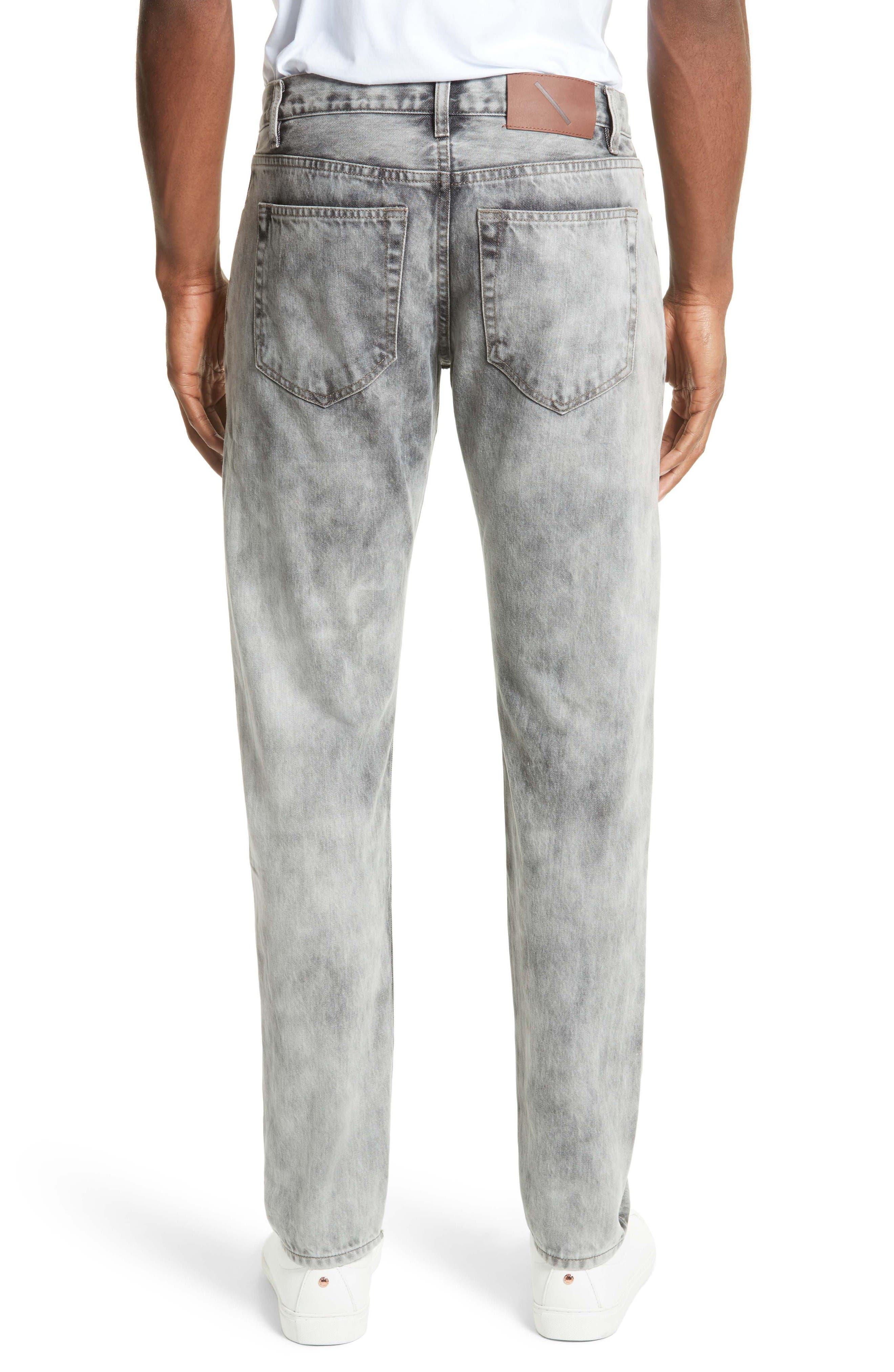Alternate Image 2  - Saturdays NYC Luke Straight Leg Jeans (Washed Black)