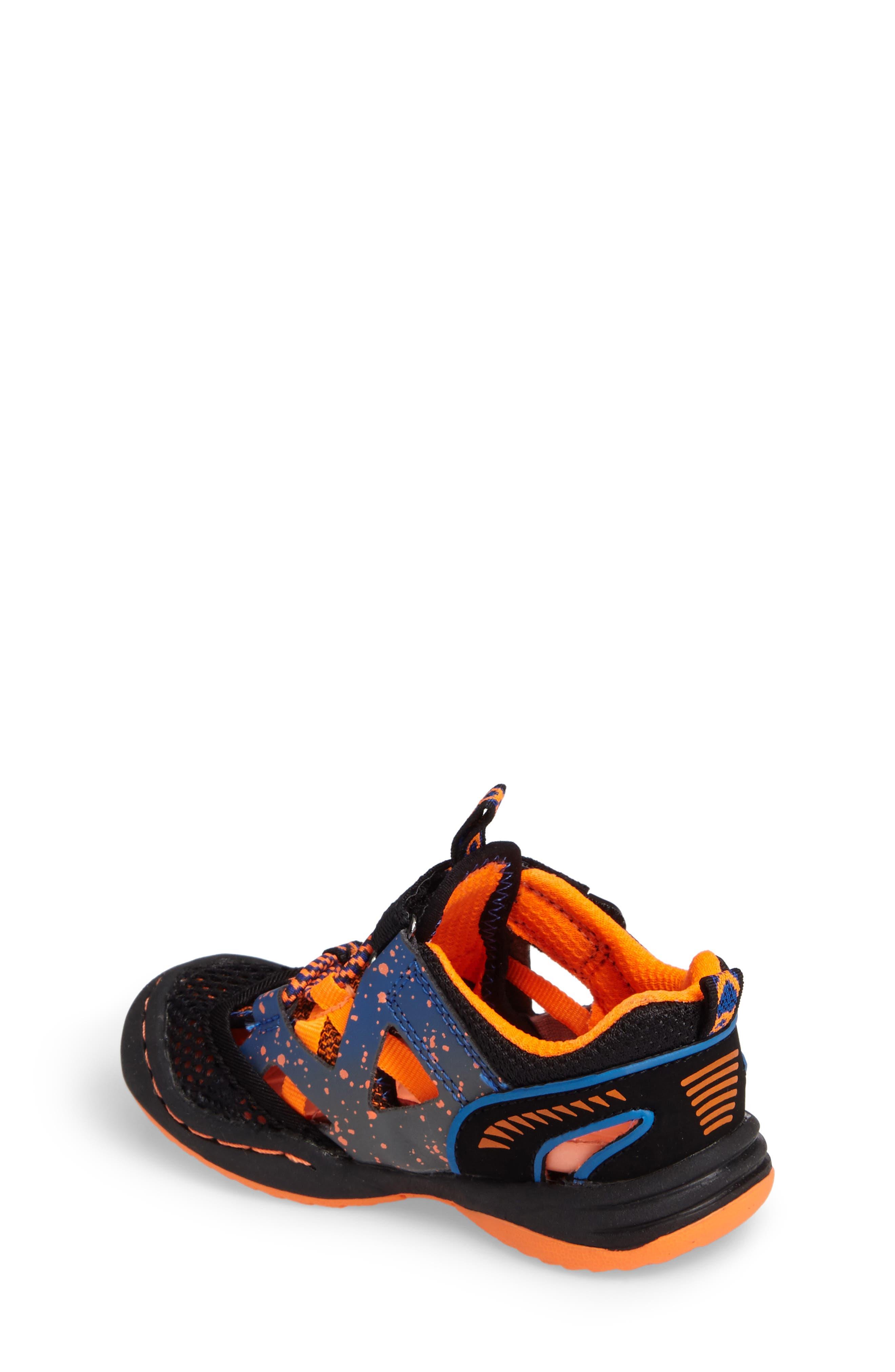 Squamata Sport Sneaker,                             Alternate thumbnail 2, color,                             Black/ Orange
