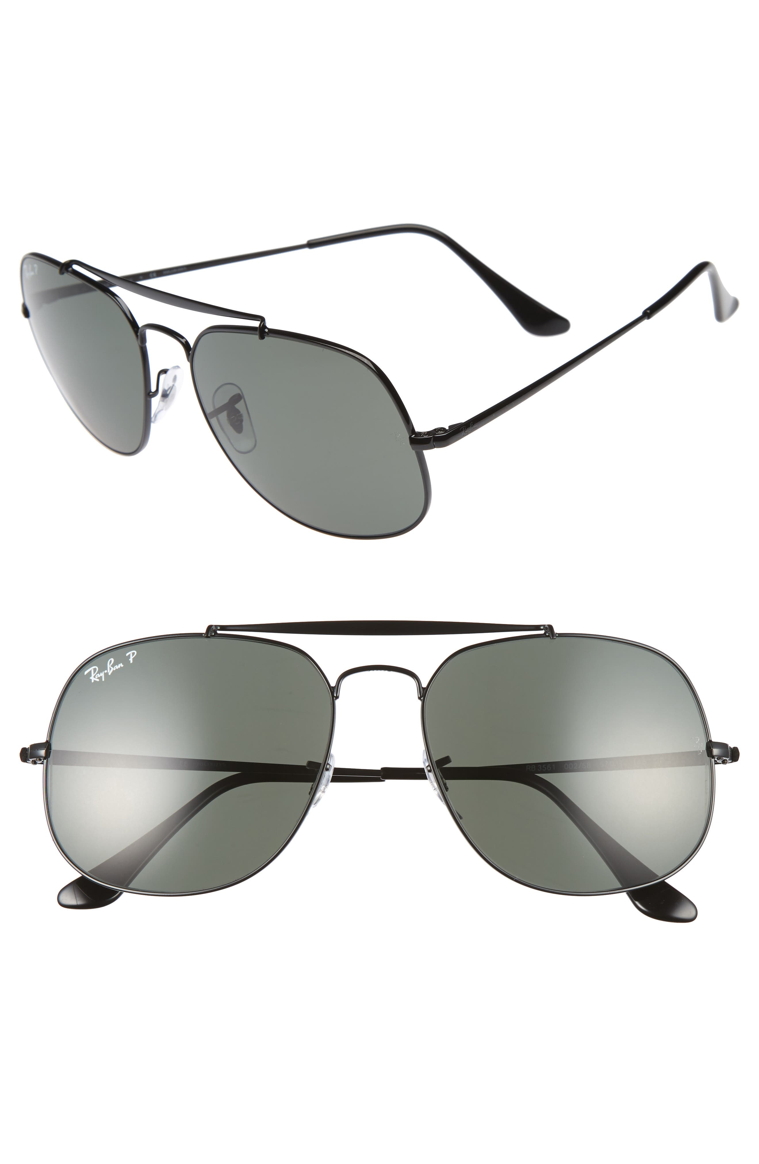 Ray-Ban The General 57mm Polarized Sunglasses