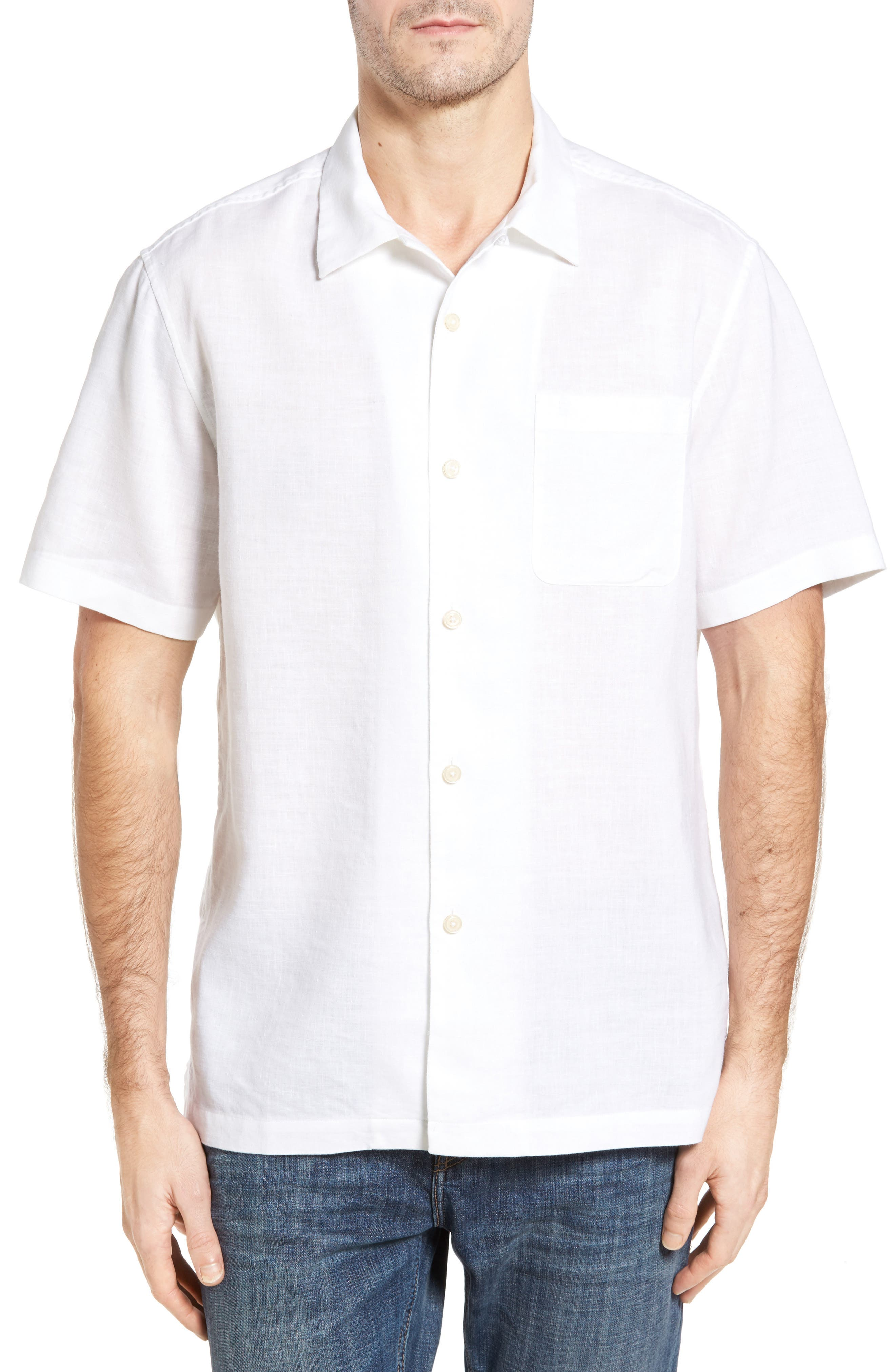 TOMMY BAHAMA Monaco Tides Linen Blend Camp Shirt