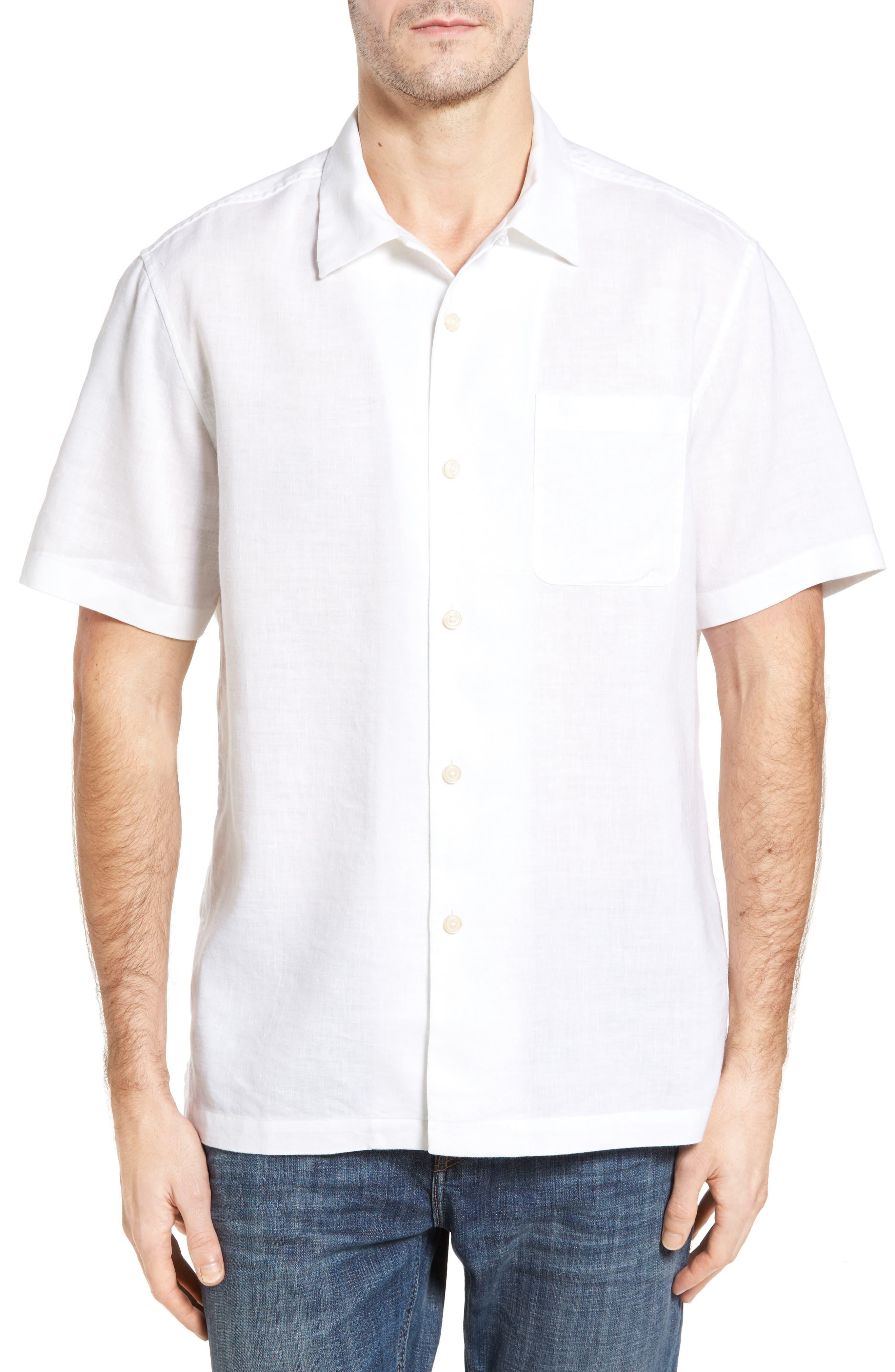 Alternate Image 1 Selected - Tommy Bahama Monaco Tides Linen Blend Camp Shirt