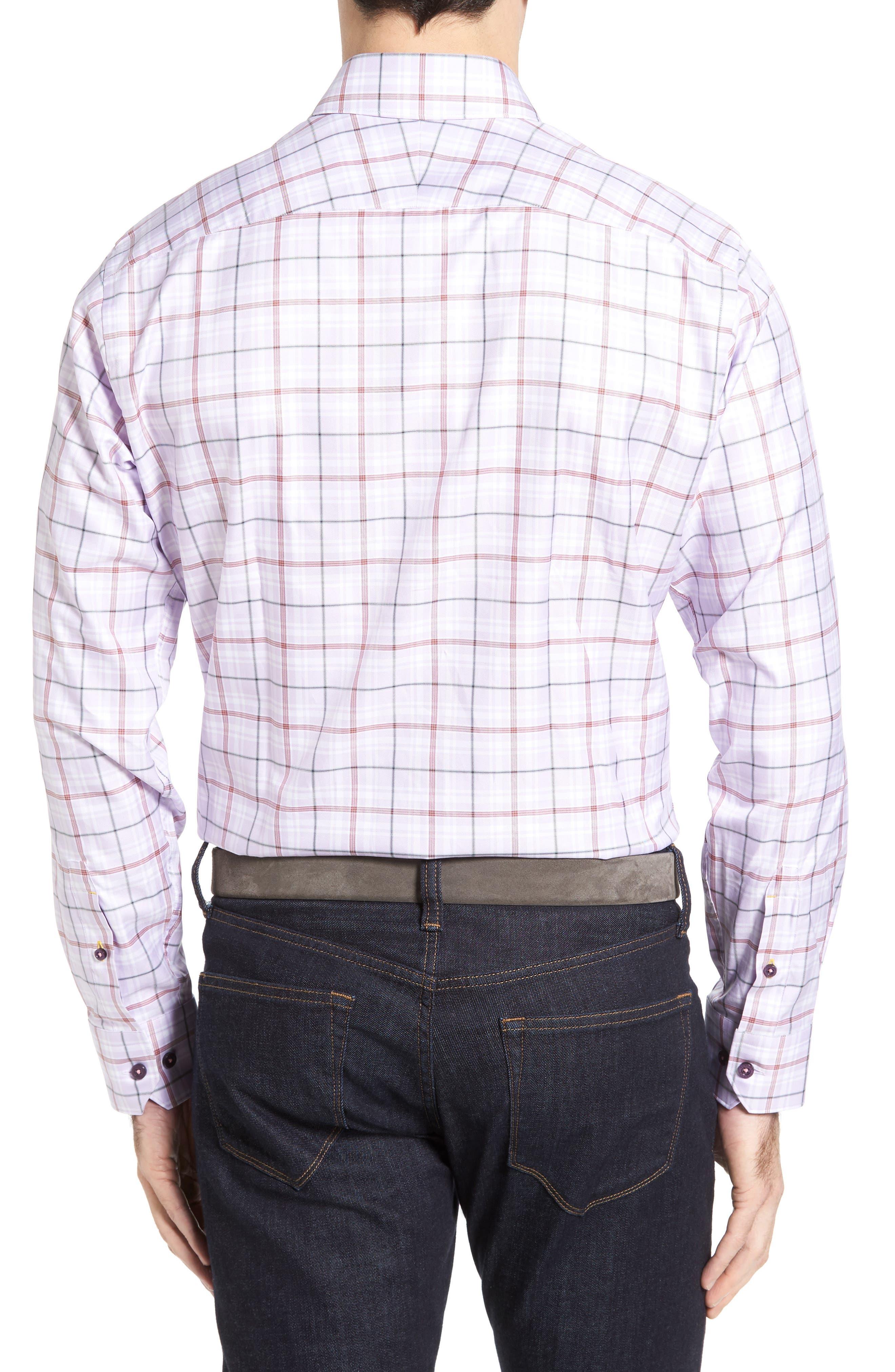 Crespi IV Tailored Fit Sport Shirt,                             Alternate thumbnail 2, color,                             Lavender
