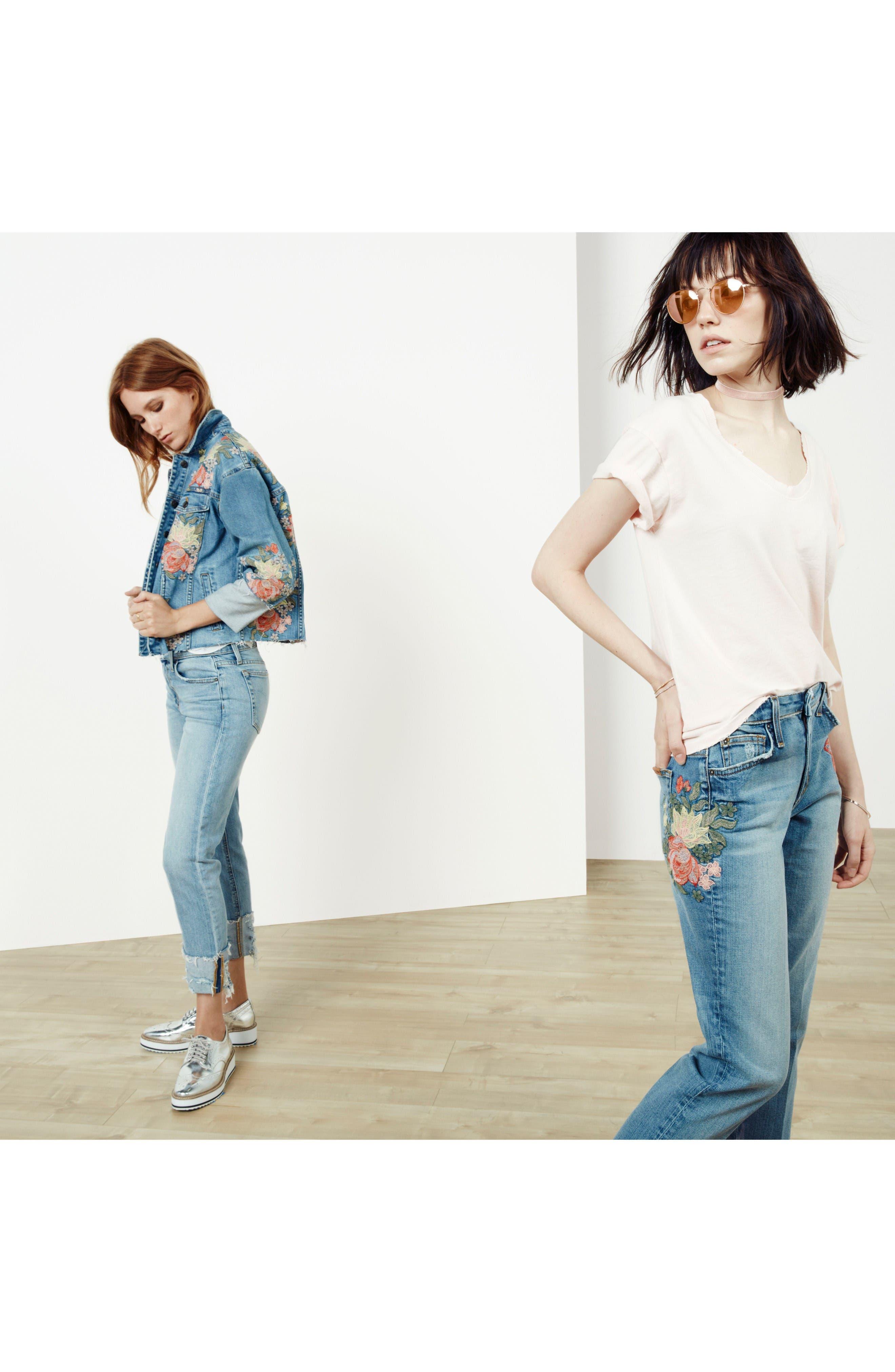 Alternate Image 5  - Joe's The Debbie Embroidered High Waist Crop Straight Leg Jeans (Sasha)