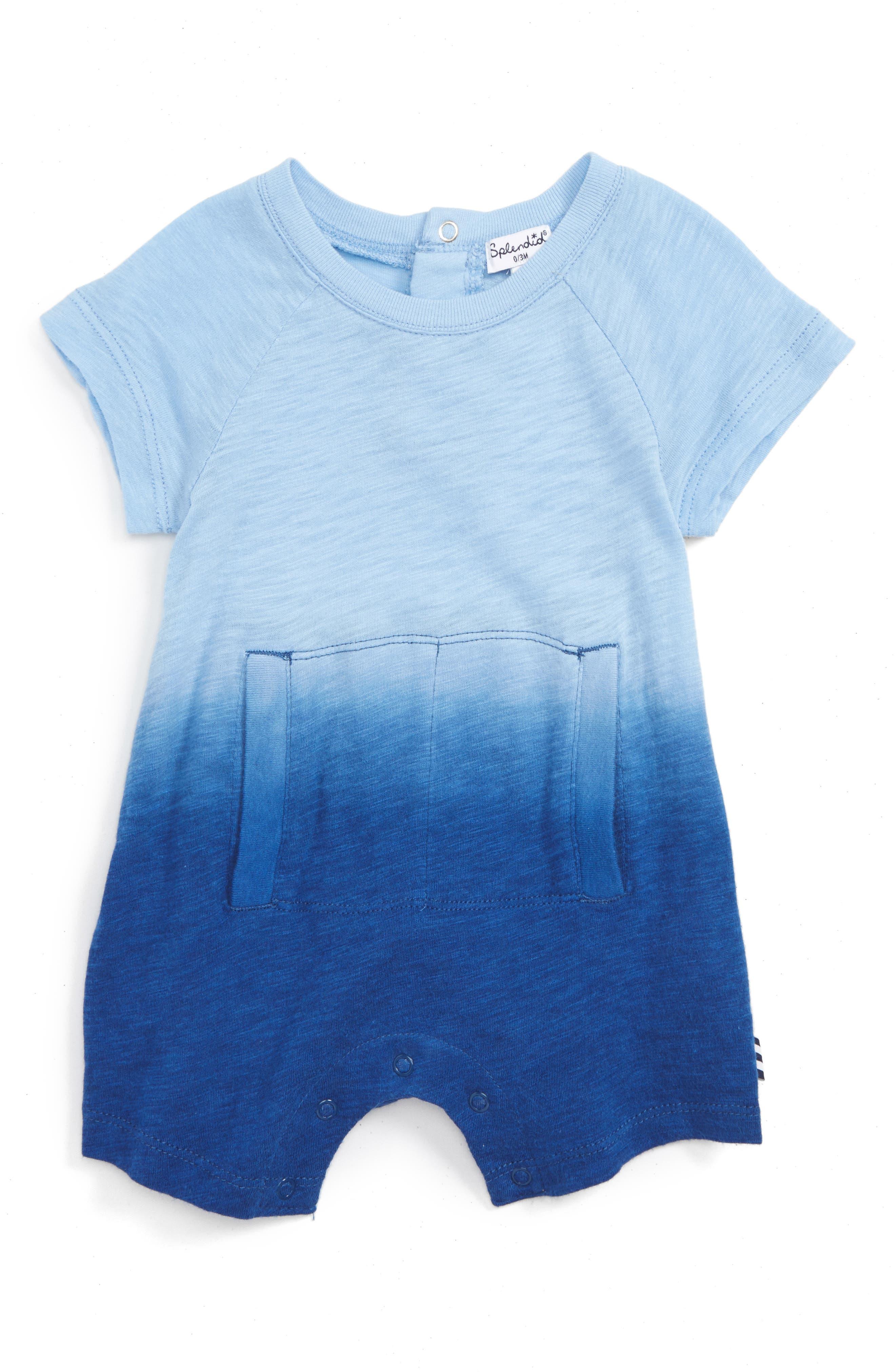 Splendid Dip Dye Short Romper (Baby)