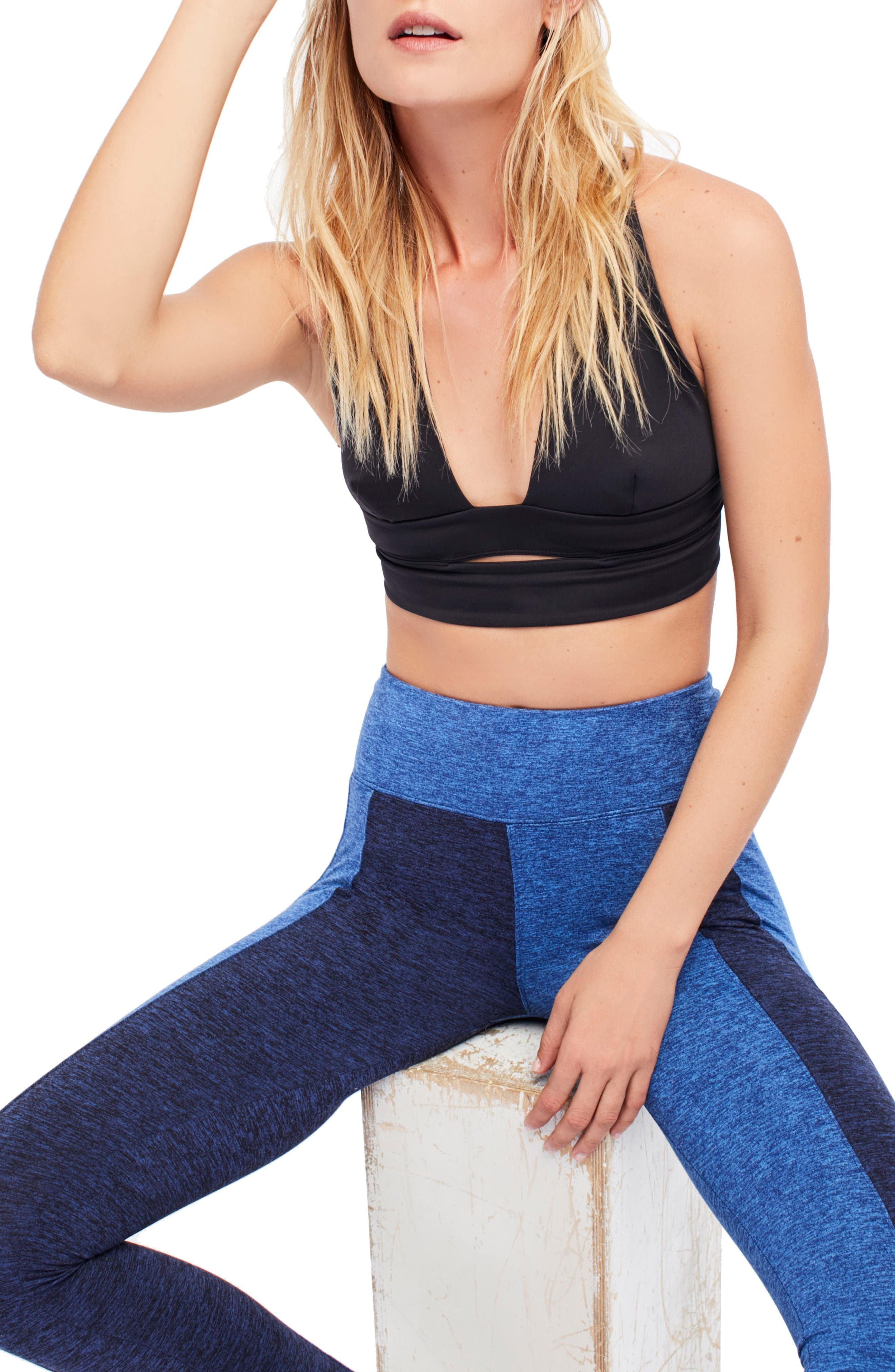 Alternate Image 6  - Free People FP Movement B Natural City Slicker Sports Bra