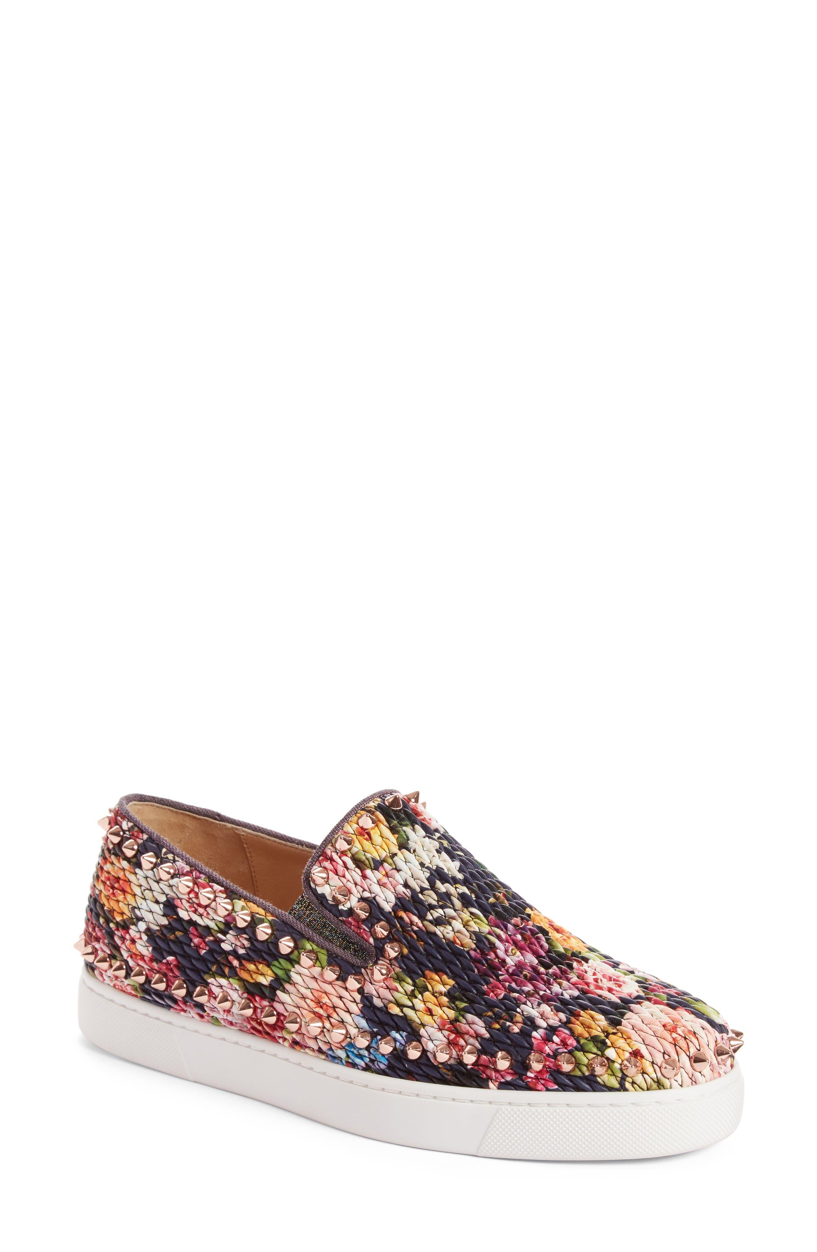 Christian Louboutin Pik Boat Floral Slip-On Sneaker (Women)