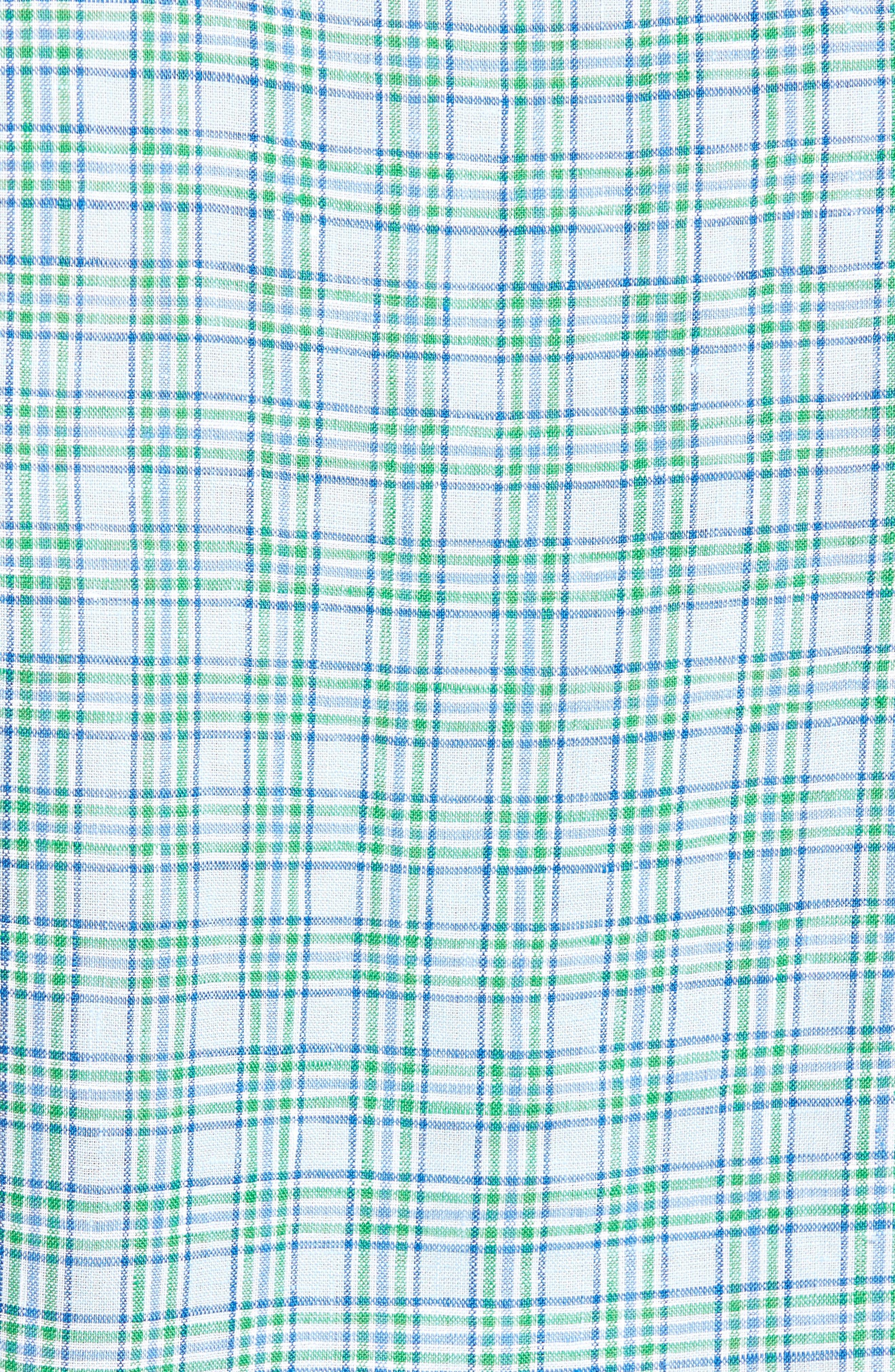 Anderson Classic Fit Sport Shirt,                             Alternate thumbnail 5, color,                             Aqua