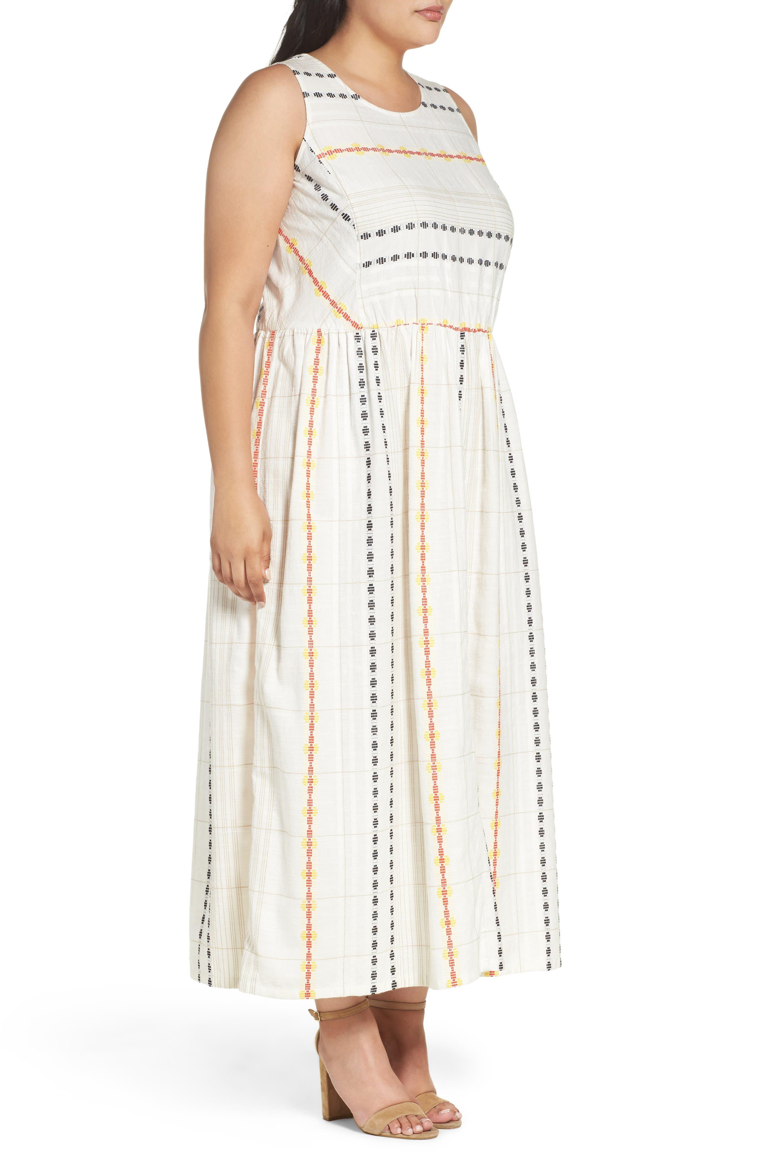 Alternate Image 3  - Caslon® Cotton Maxi Dress (Plus Size)