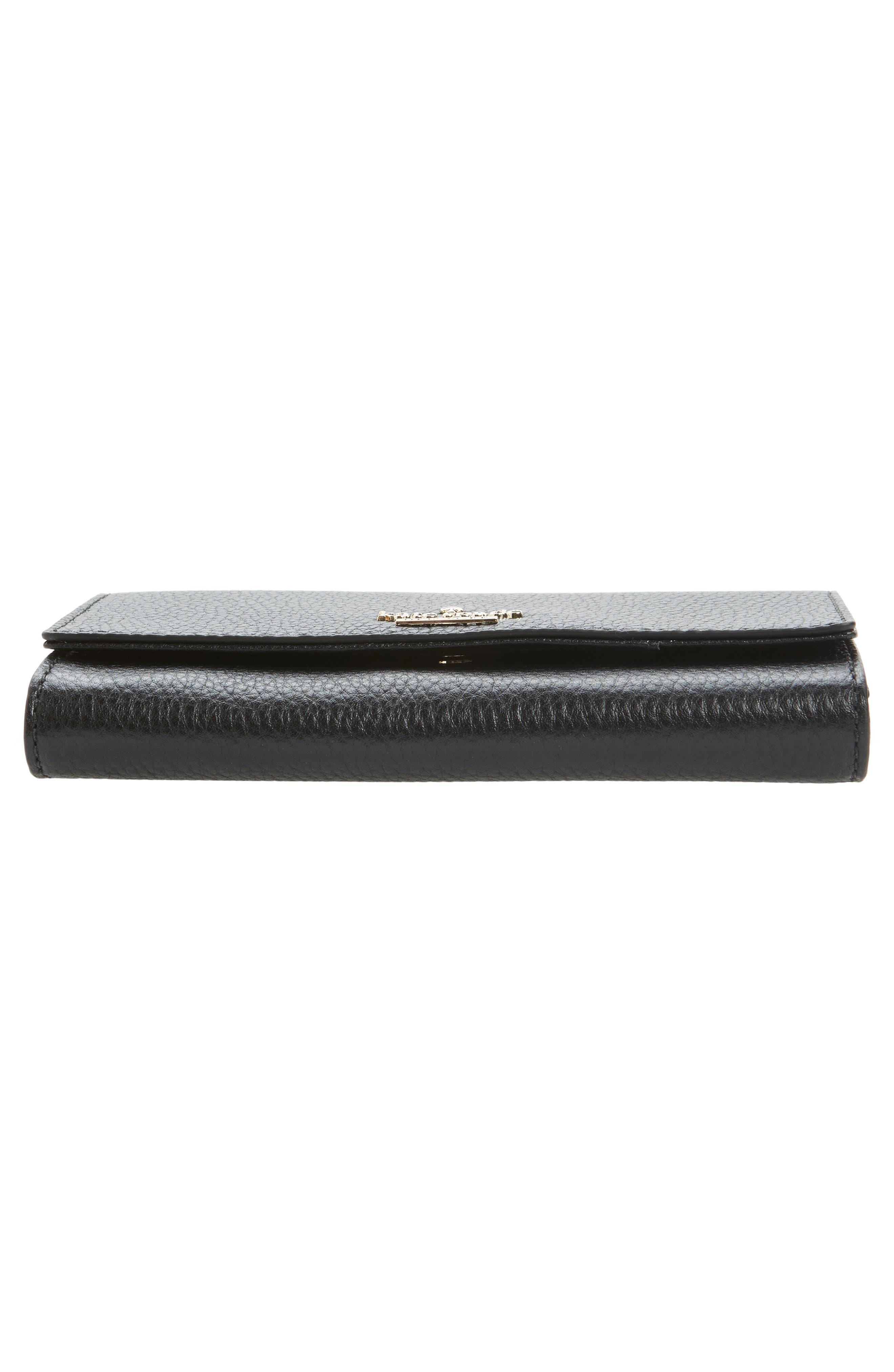 jackson street malorie leather wallet,                             Alternate thumbnail 6, color,                             Black