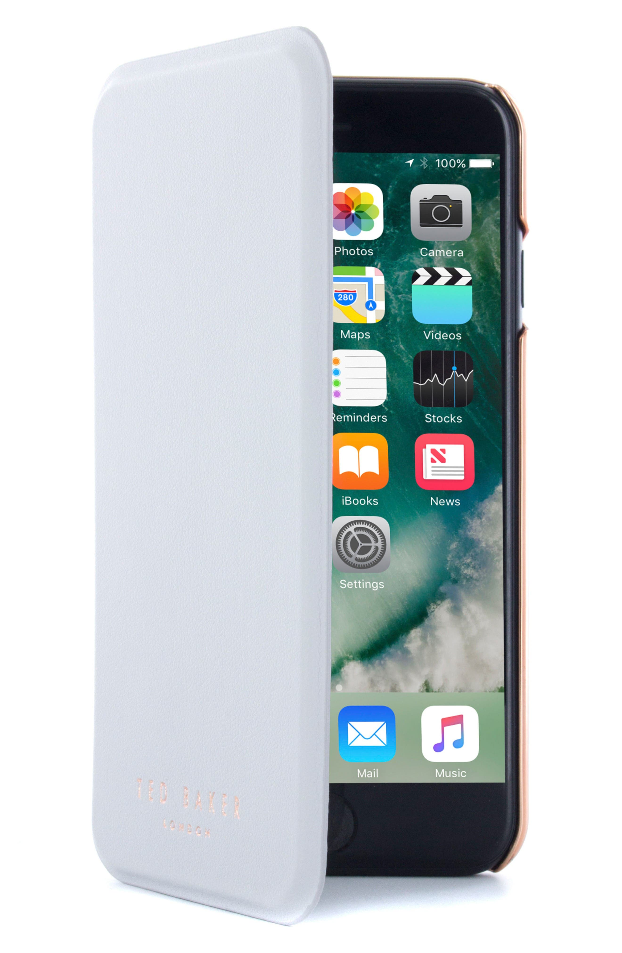 TED BAKER LONDON Shannon iPhone 7 & 7 Plus Mirror Folio Case