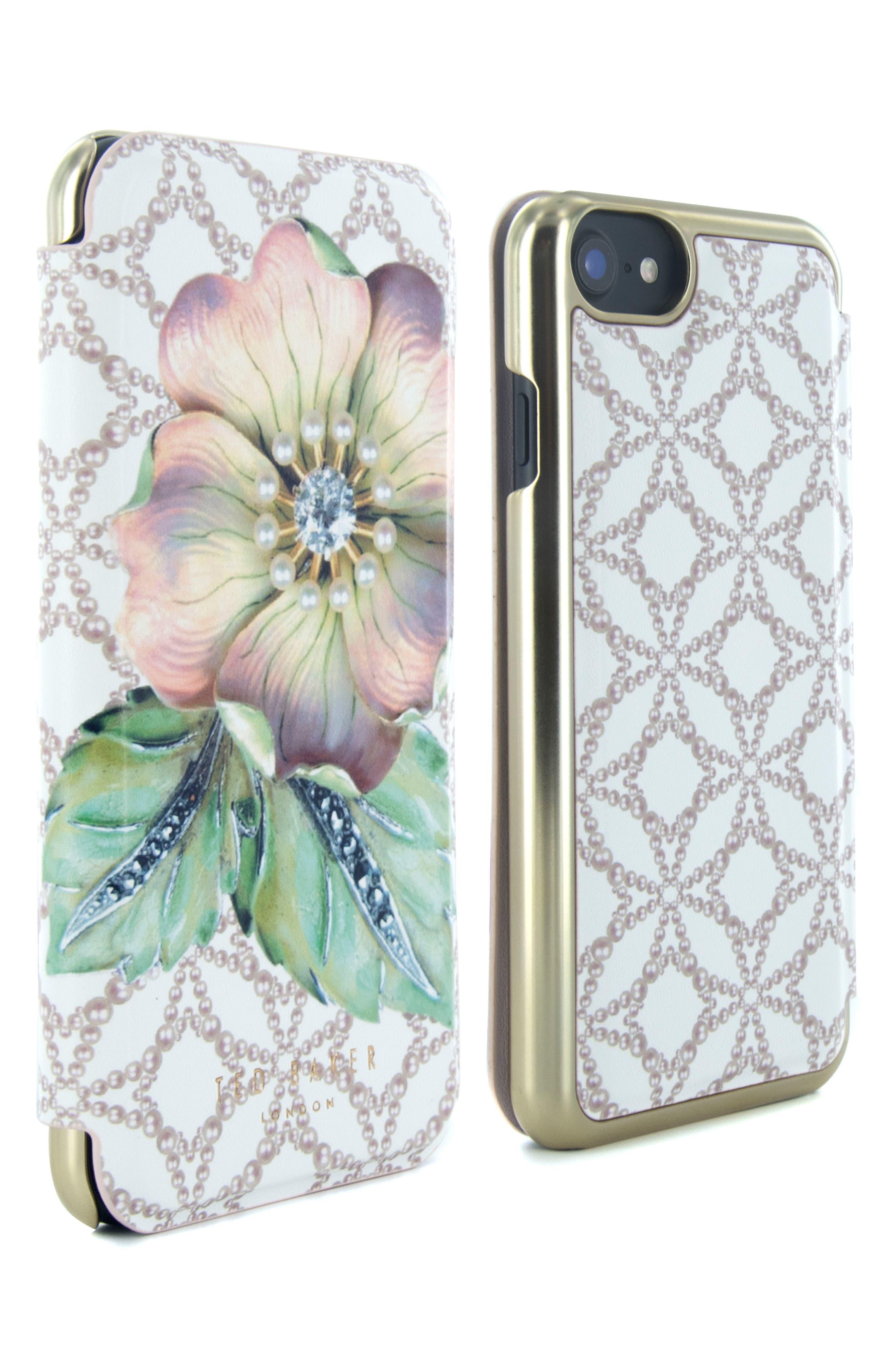Mavis iPhone 6/6s/7/8 Plus Mirror Folio Case,                             Alternate thumbnail 4, color,                             Multi