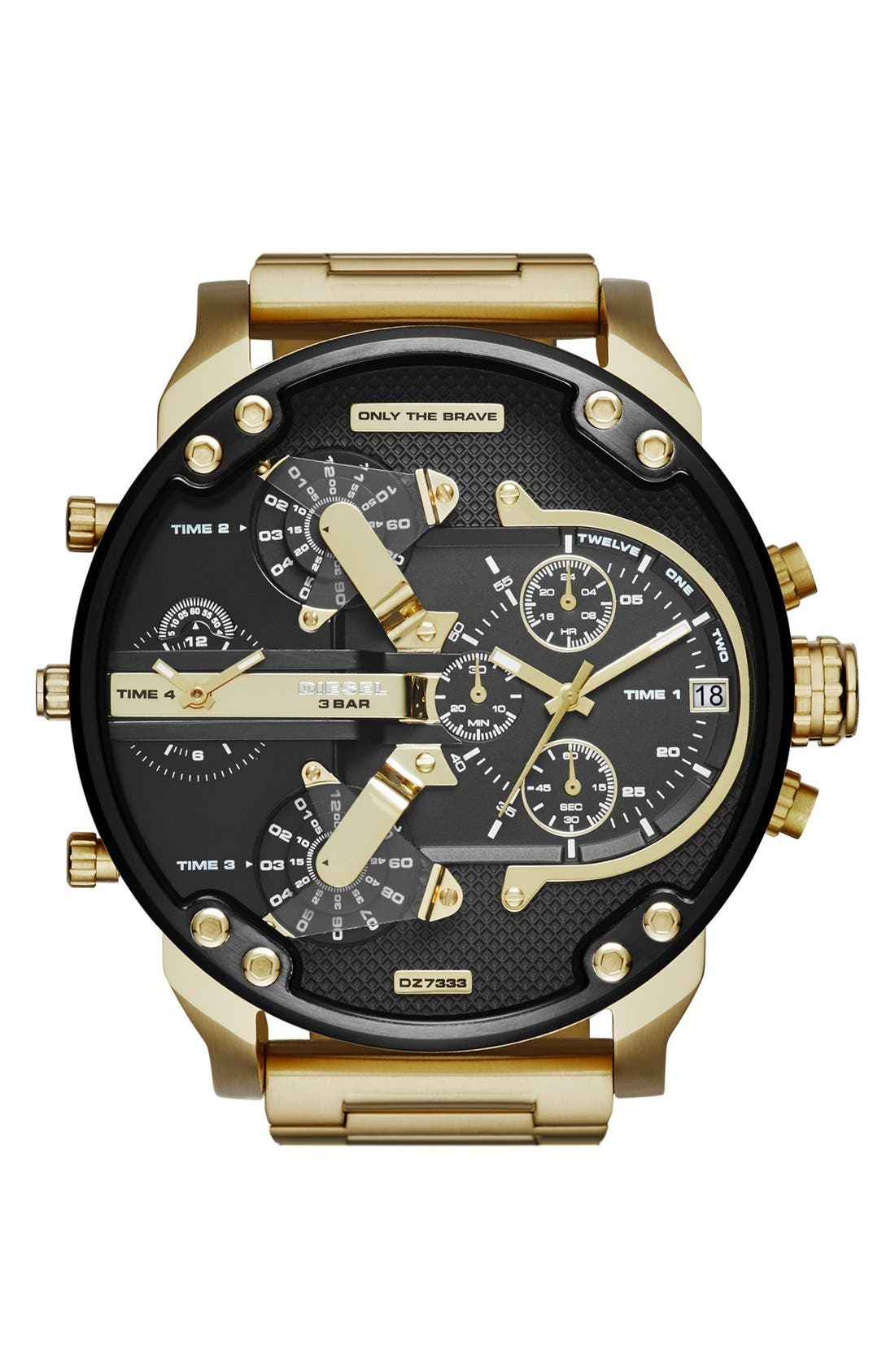 'Mr. Daddy 2.0' Chronograph Watch, 57mm,                         Main,                         color, Gold