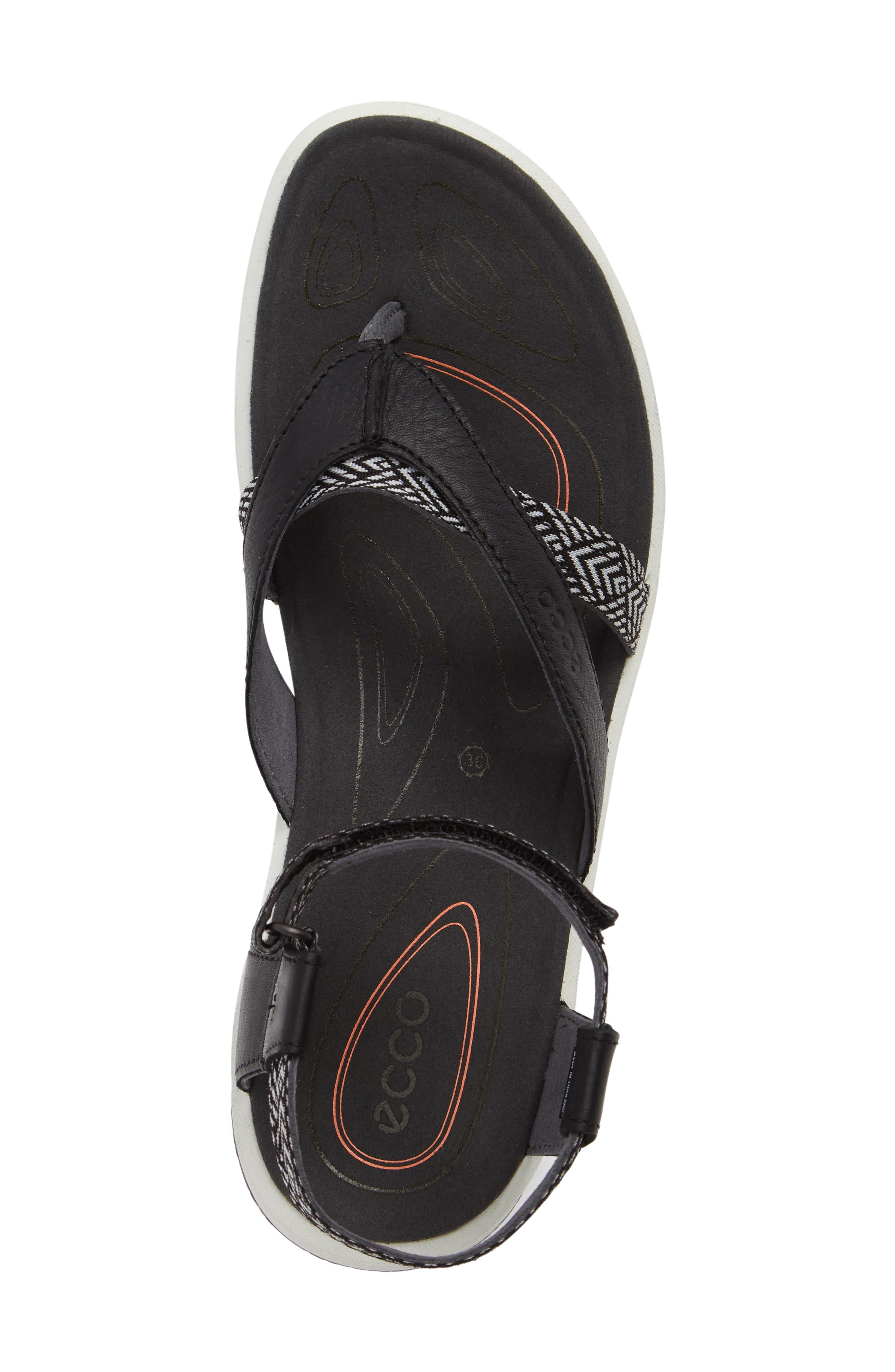 Cruise Sport Sandal,                             Alternate thumbnail 5, color,                             Black Leather