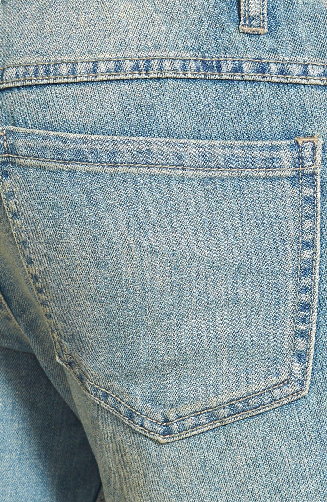 Alternate Image 3  - Free People Destroyed Skinny Jeans (Sitka)